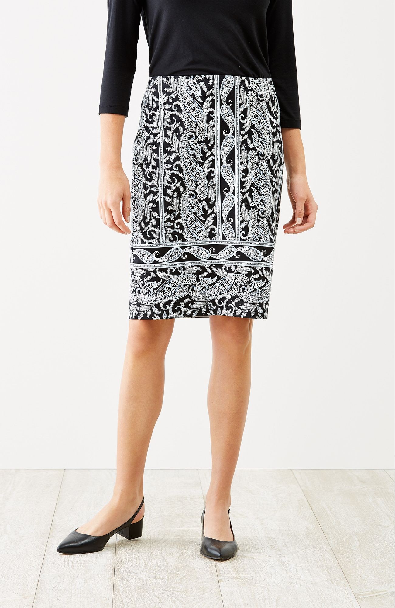 Wearever paisley pencil skirt