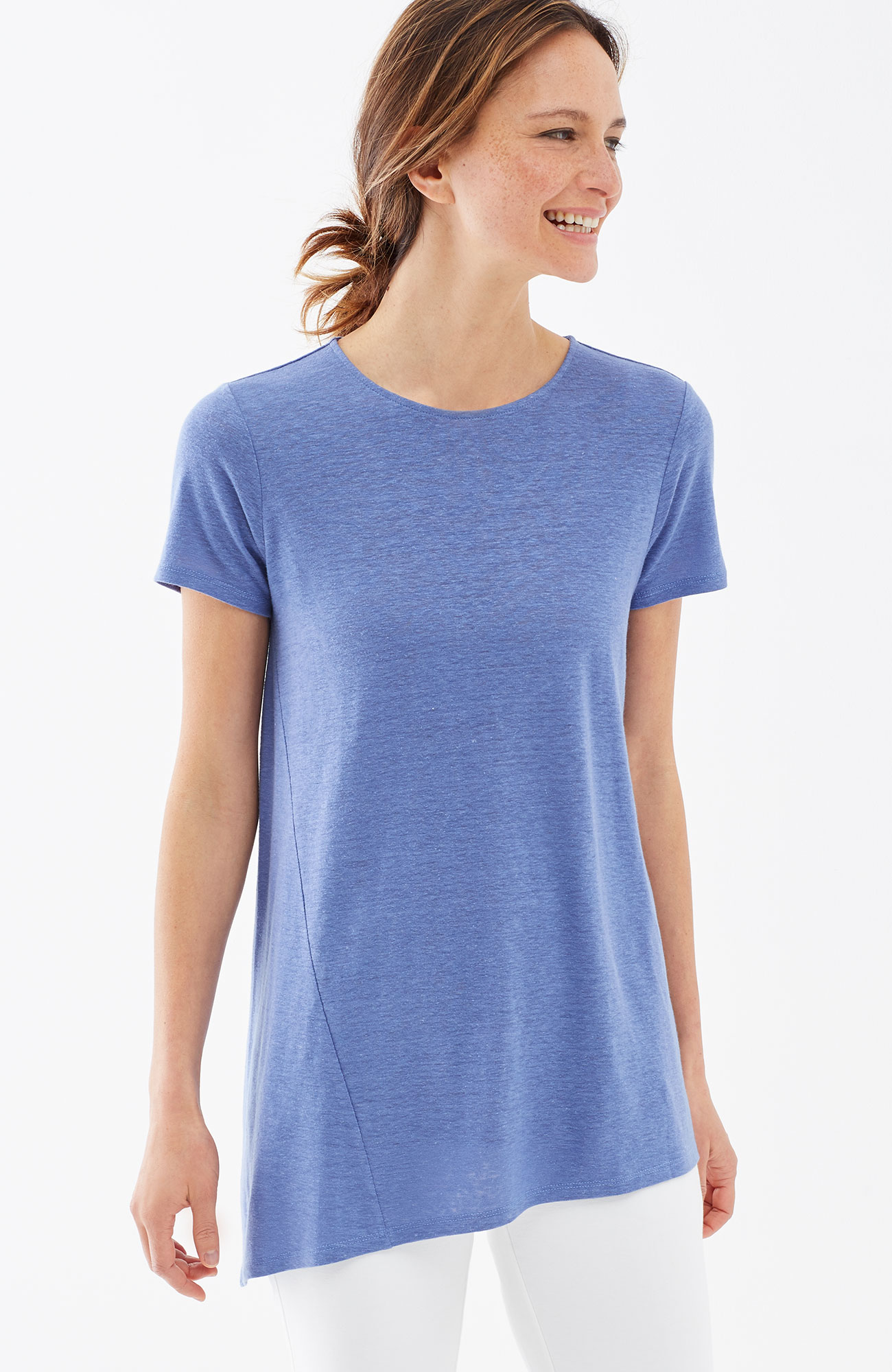 Pure Jill seamed asymmetric tee