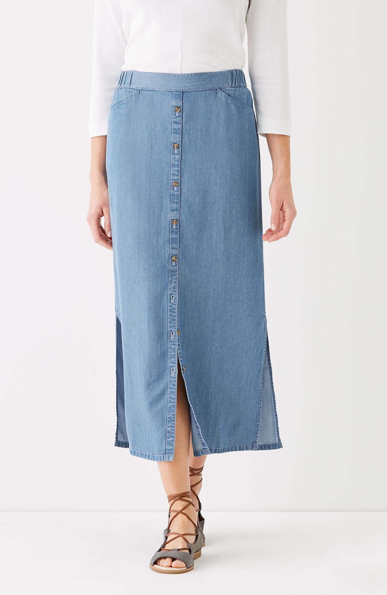 Tencel® indigo maxi skirt