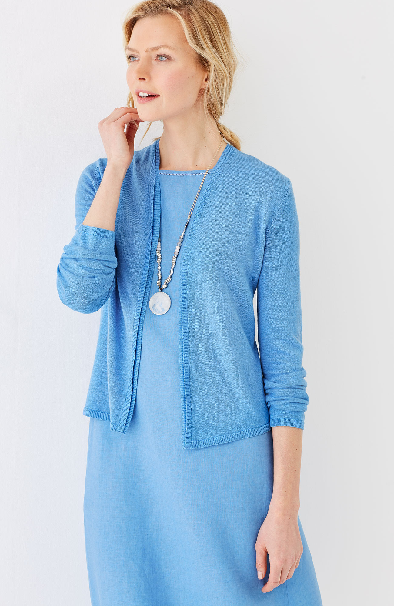 delicate-trim perfect cardi