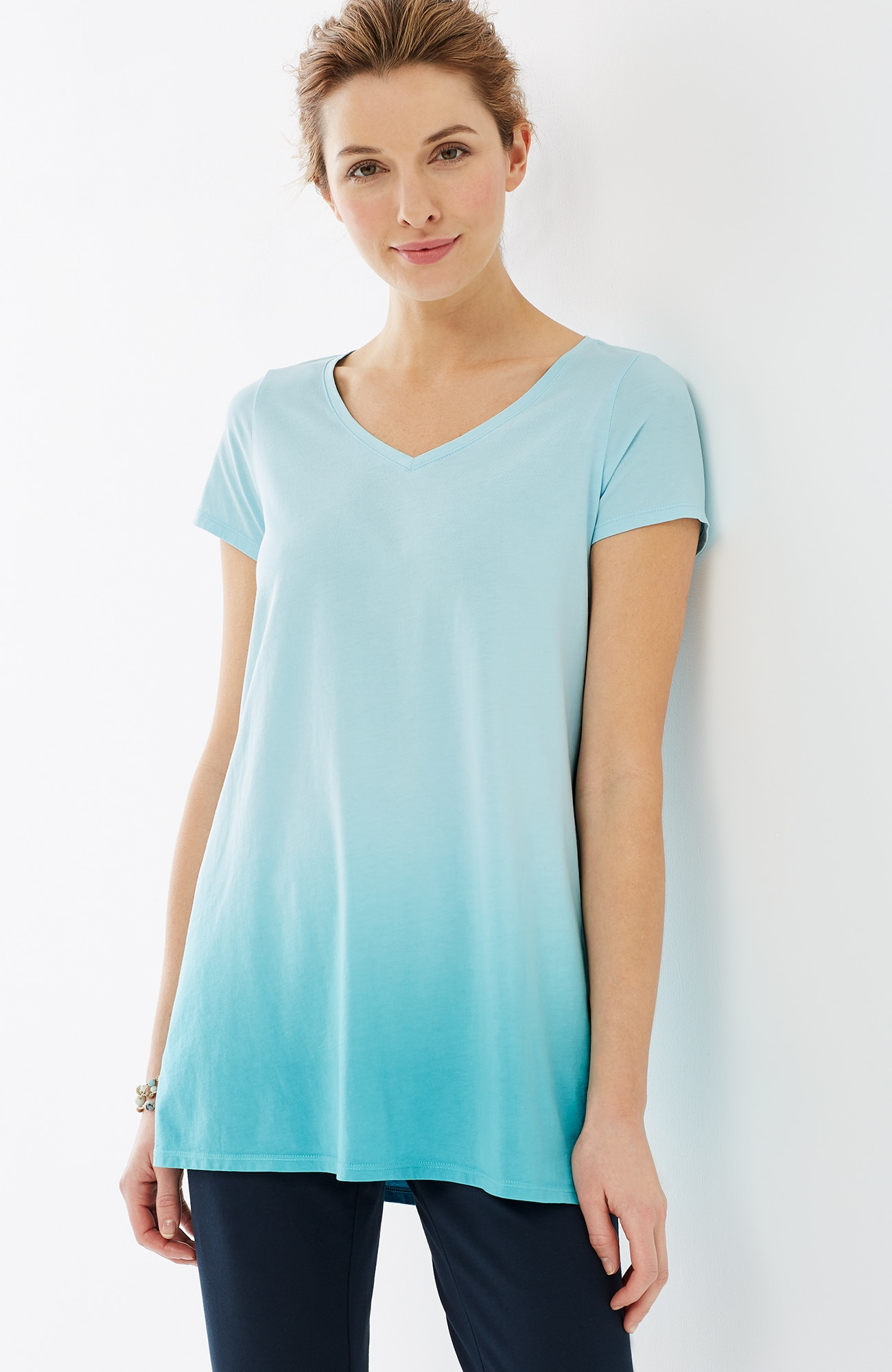 Pure Jill dip-dyed elliptical tee