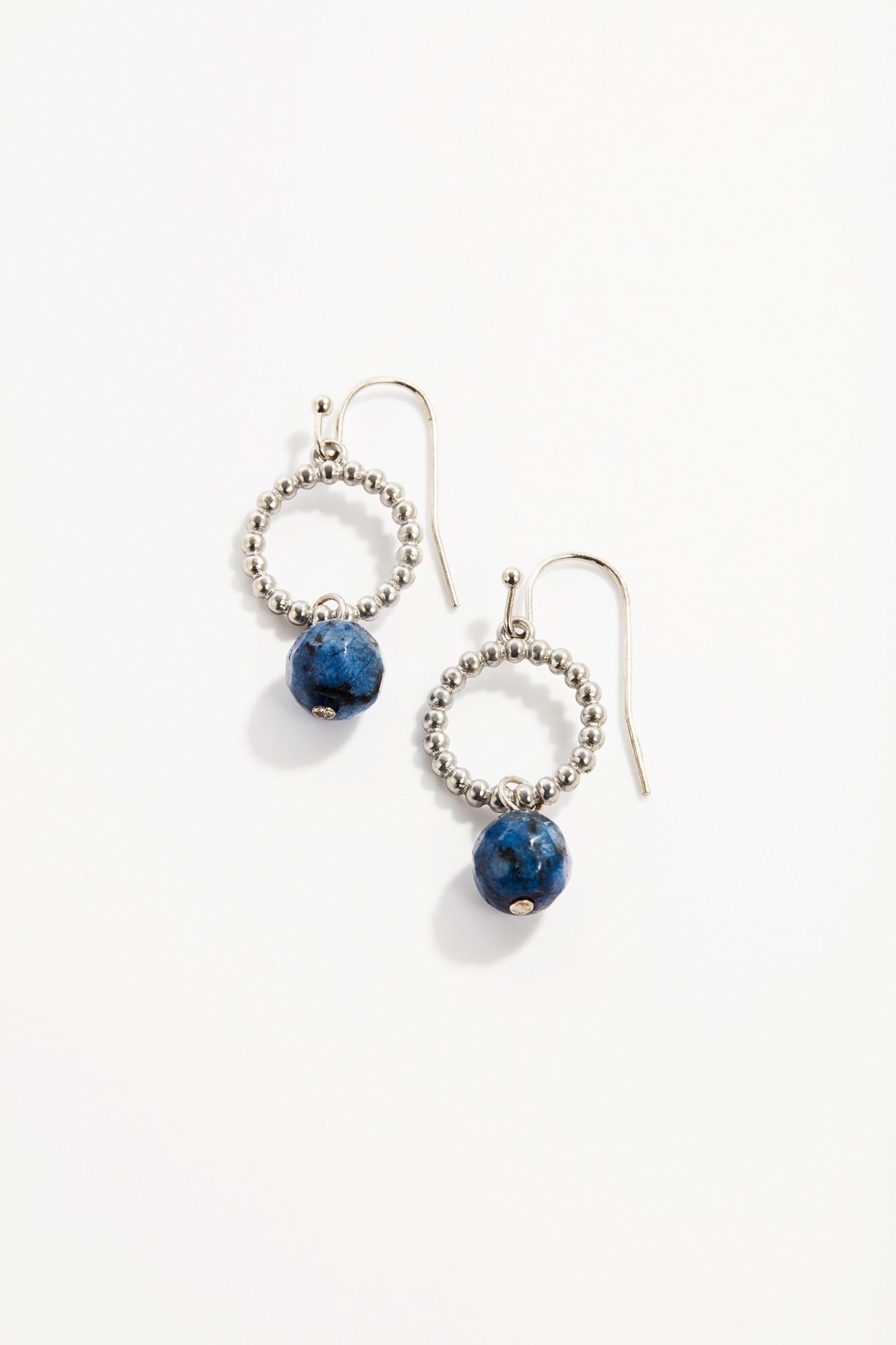 lapis & metal earrings