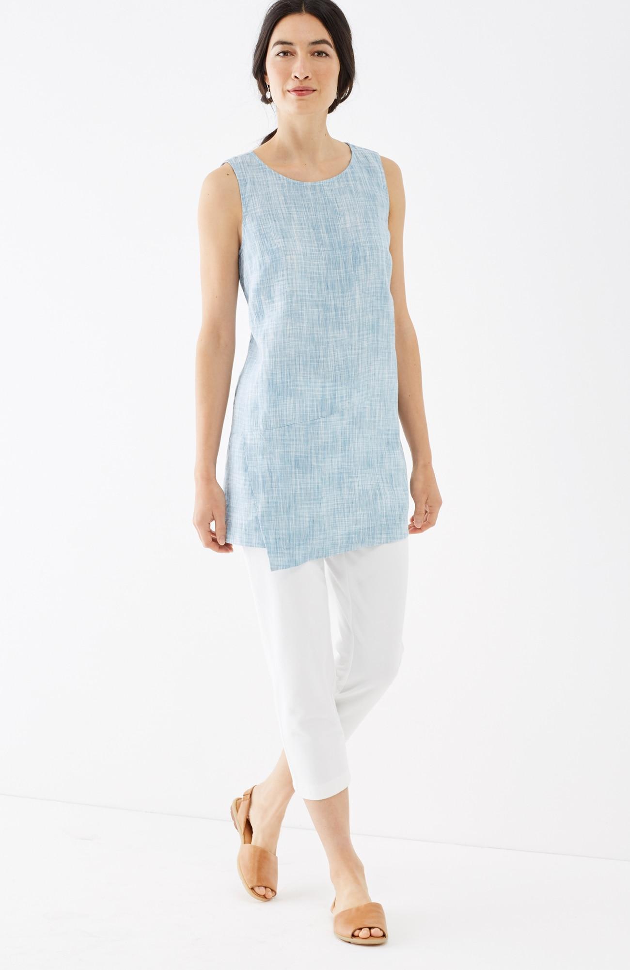 Pure Jill linen wrap tunic