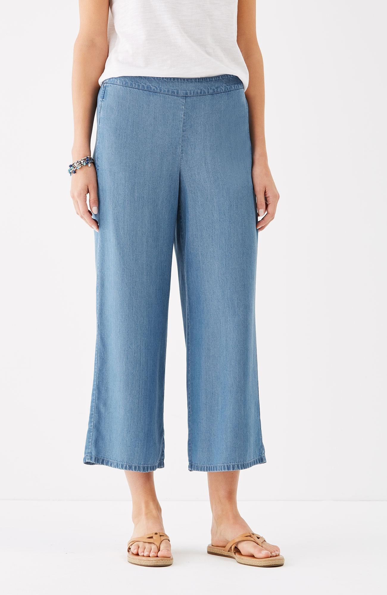 Tencel® indigo full-leg crops