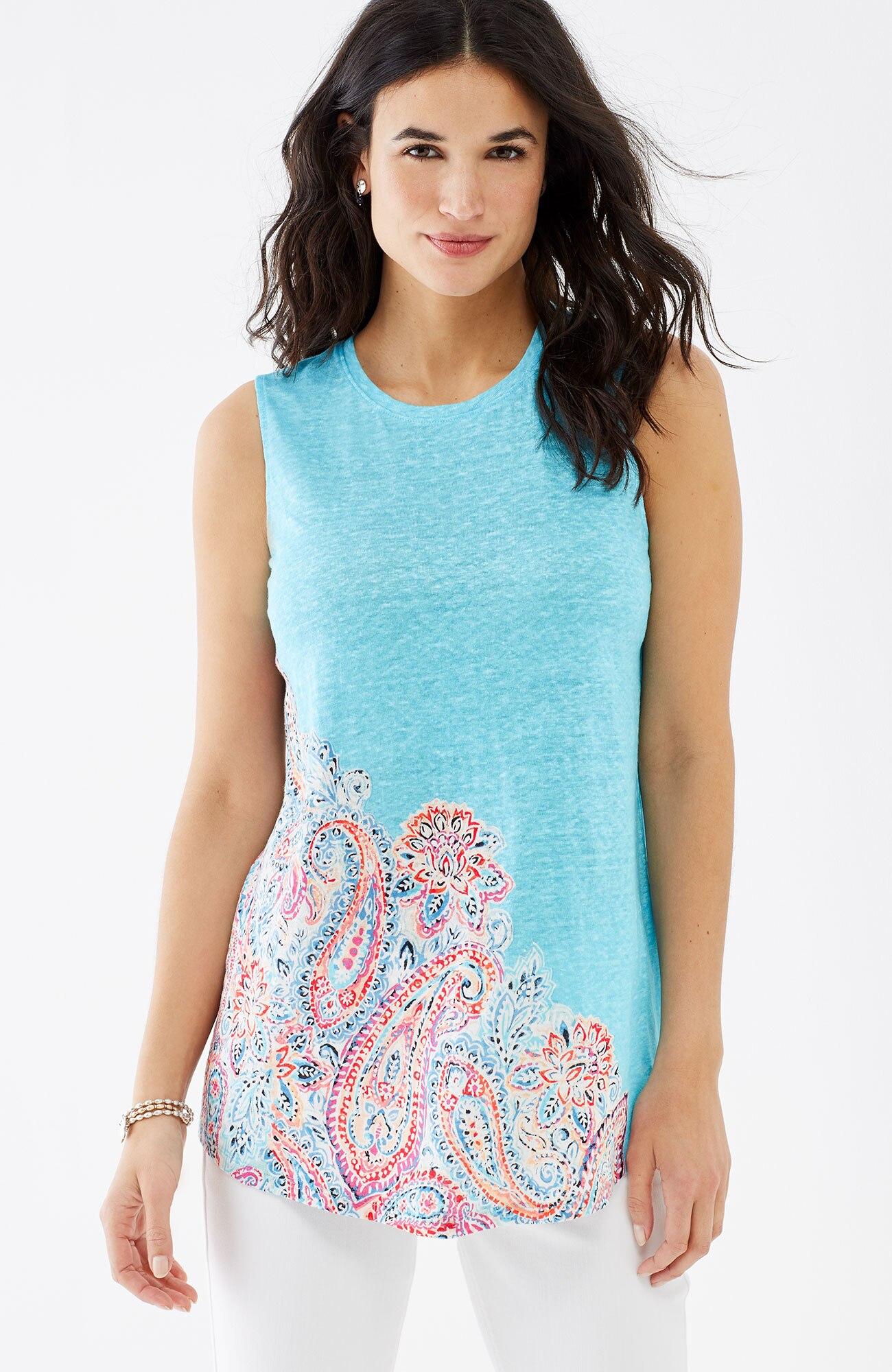 Portofino linen-knit tank