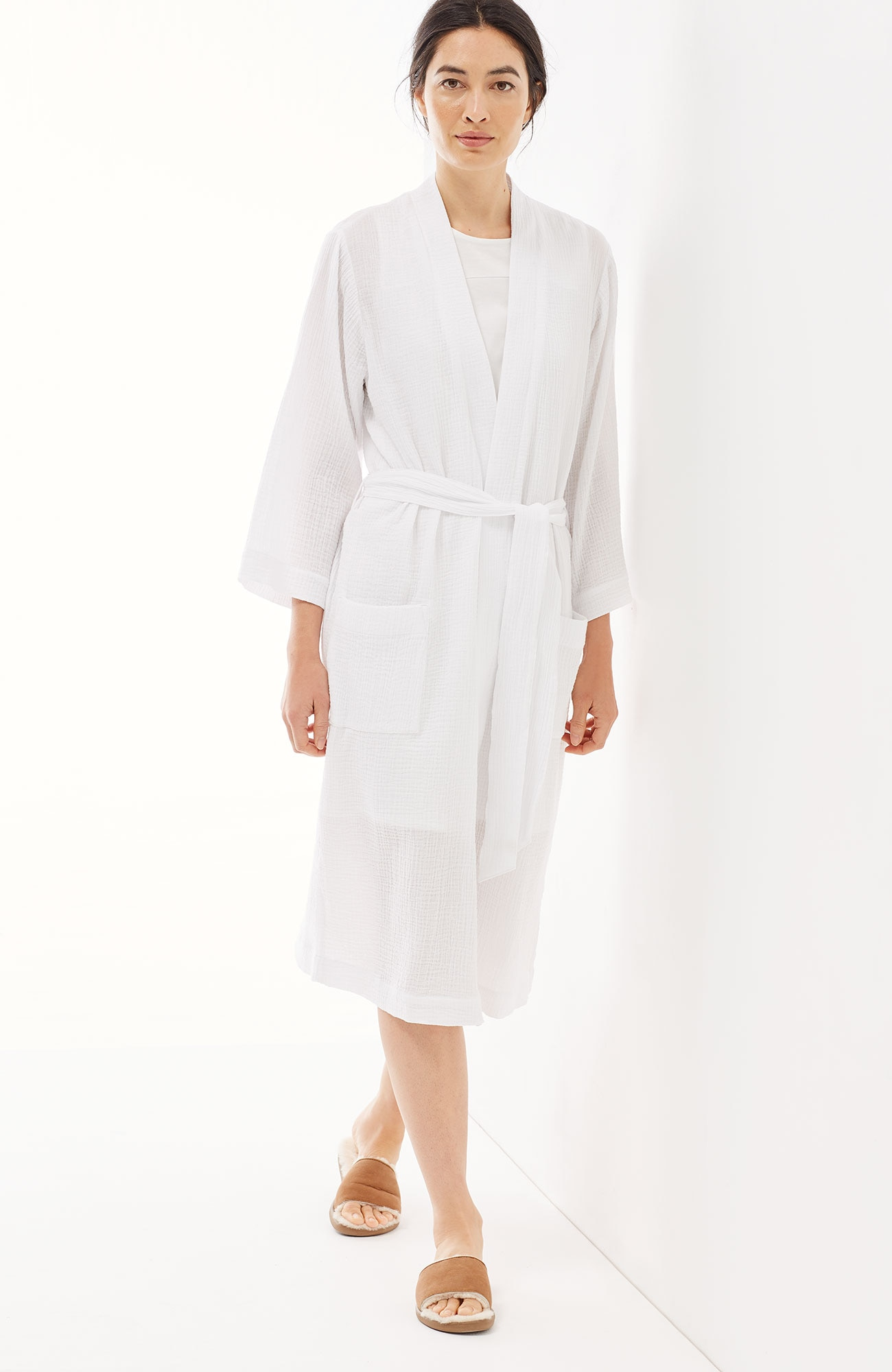 Pure Jill Sleep textured-cotton robe