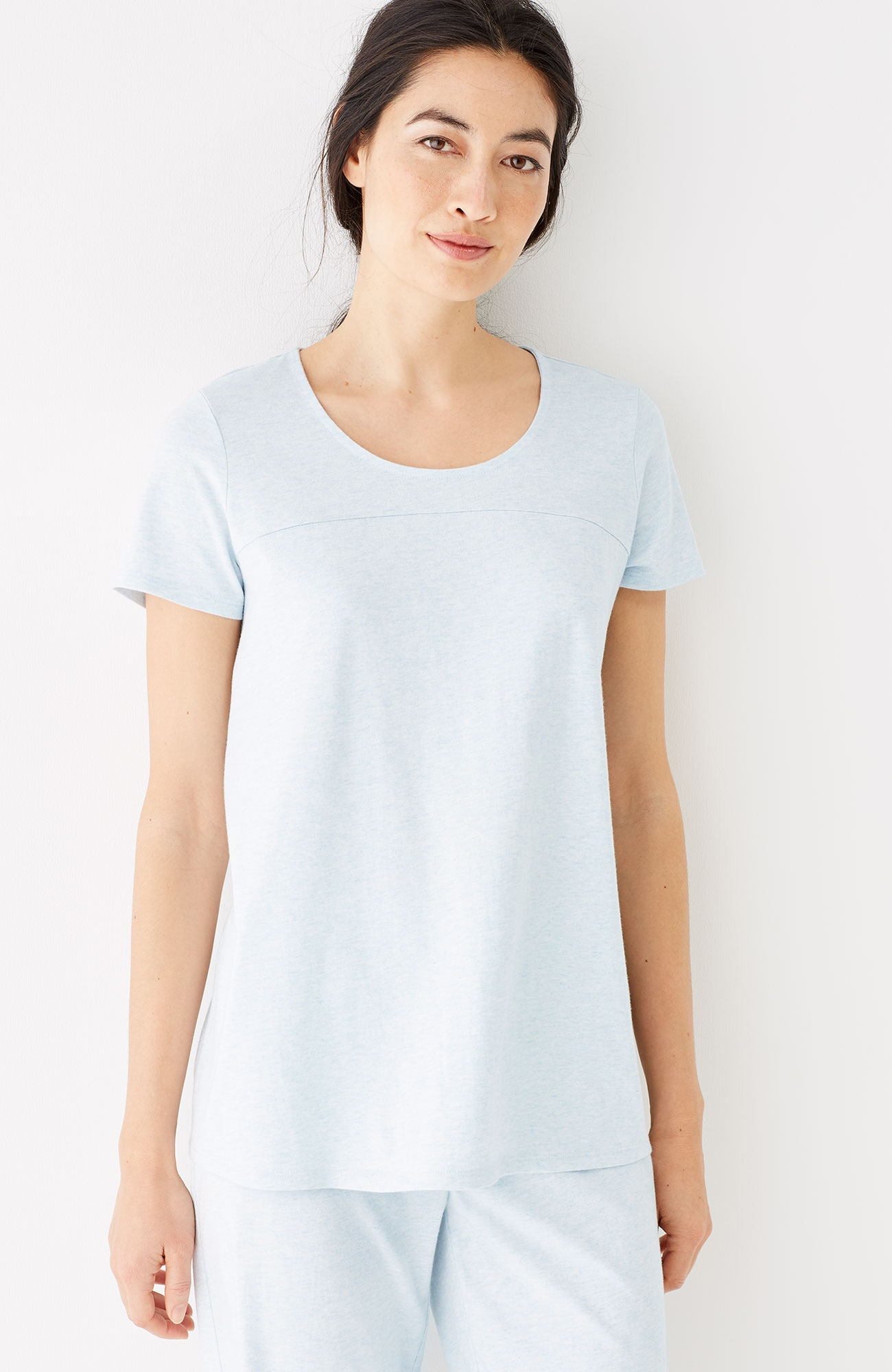Pure Jill Sleep ultrasoft cap-sleeve tee
