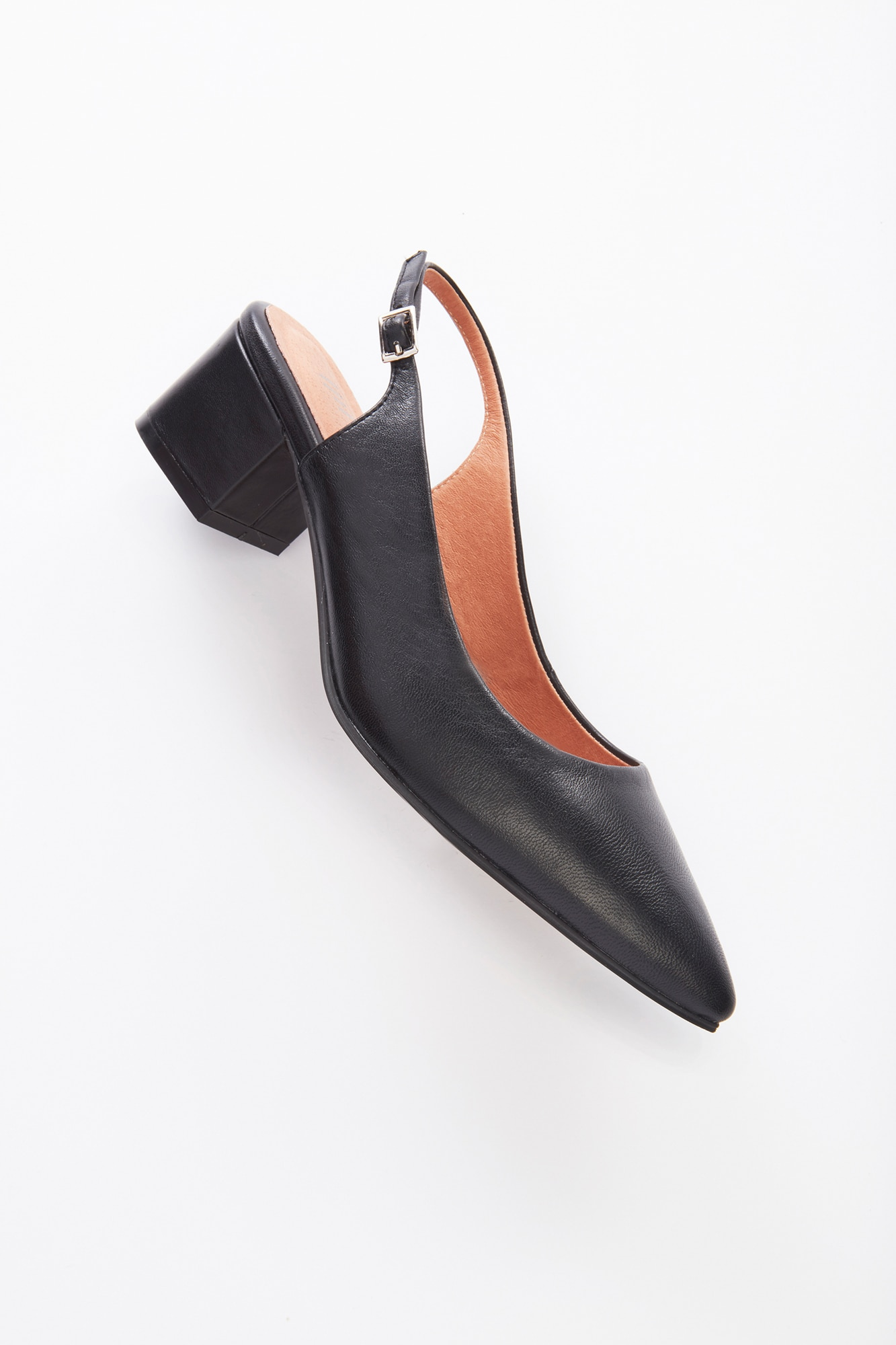 slingback block-heel pumps