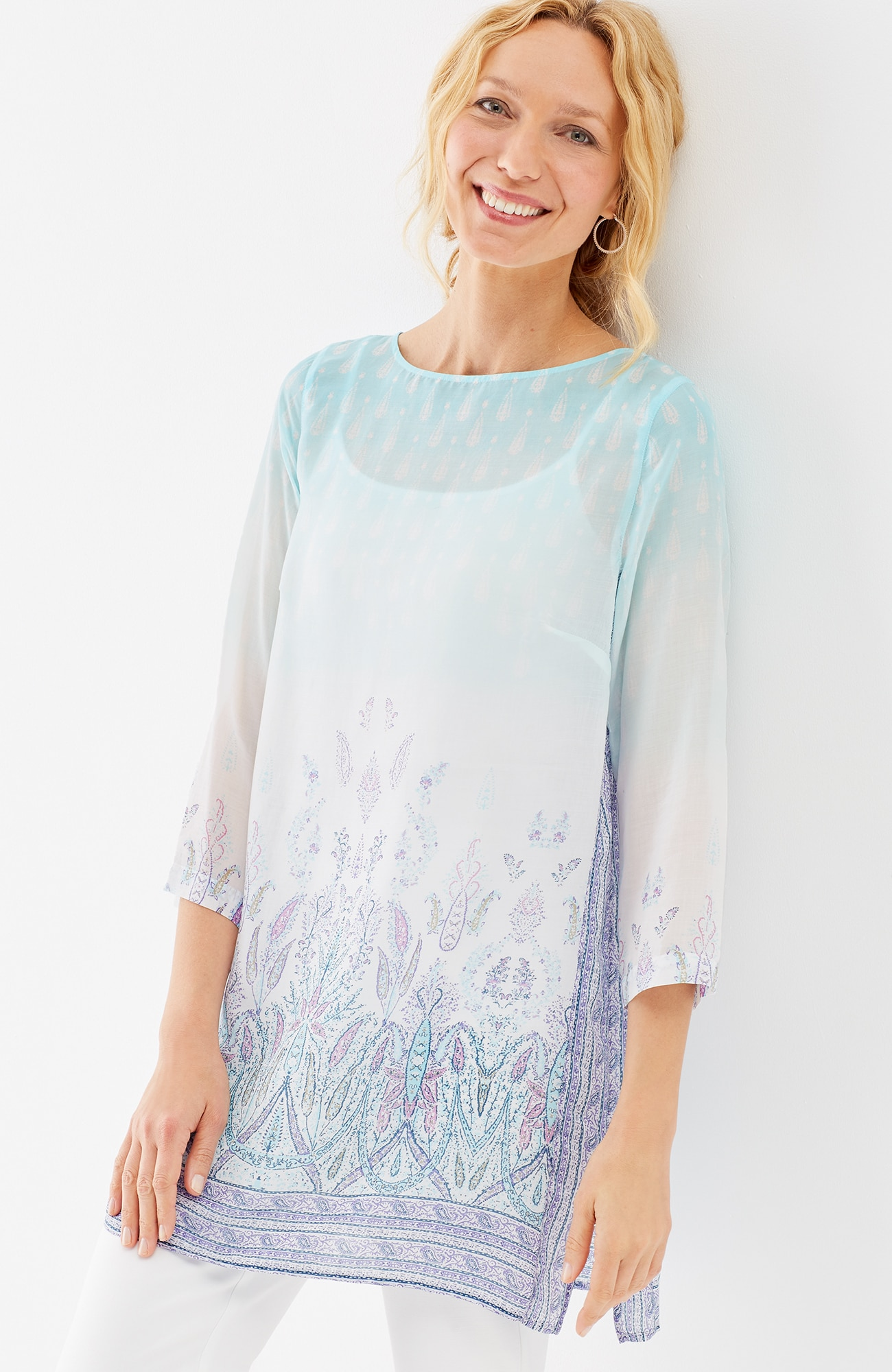 silky-Tencel® paisley tunic