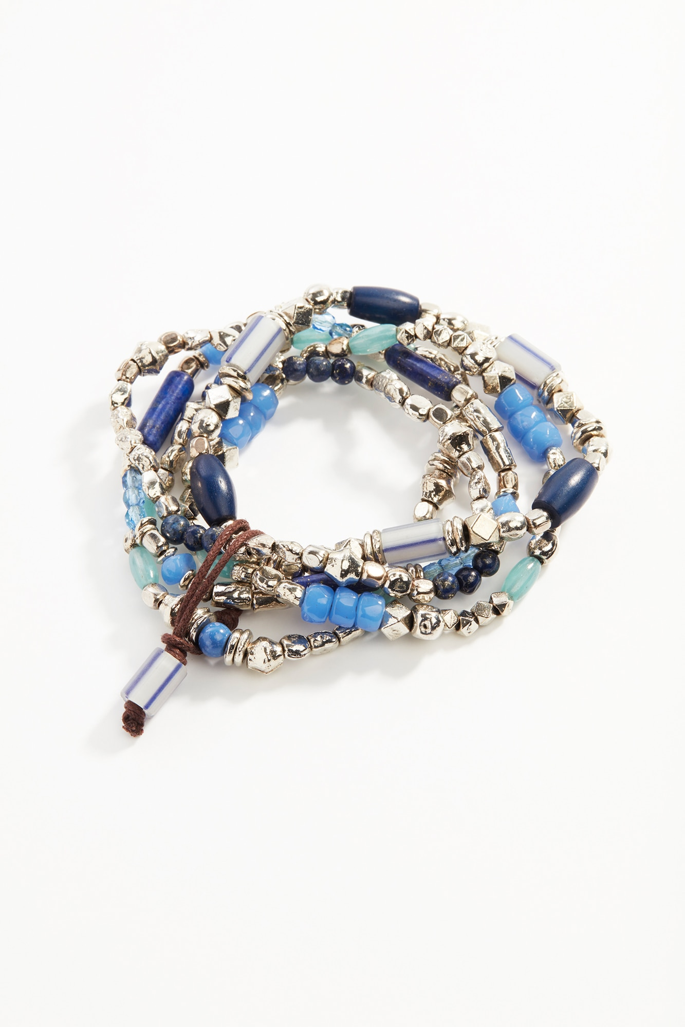 blue skies bracelet stack