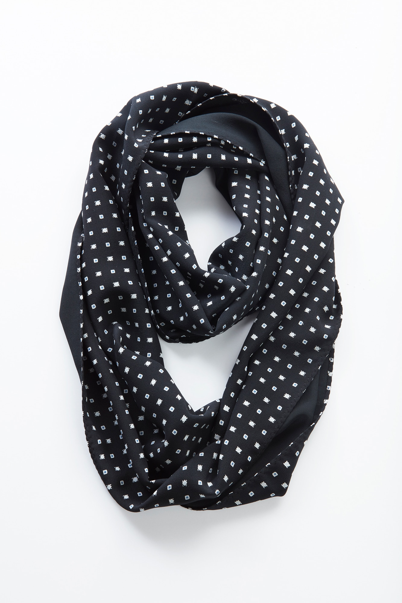diamond dot silk infinity scarf