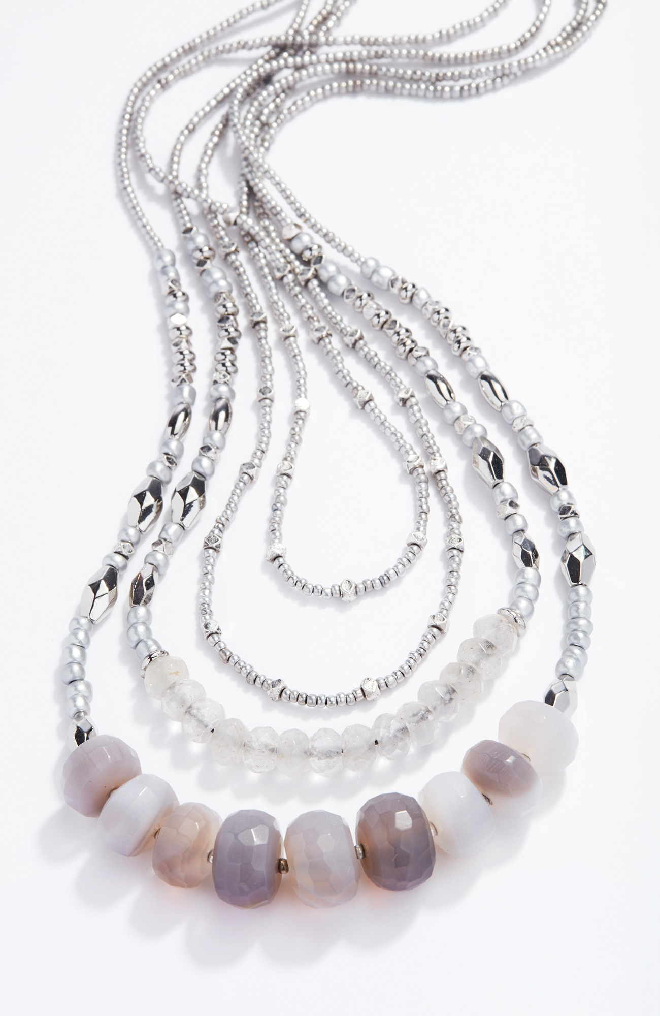 cascading agate necklace