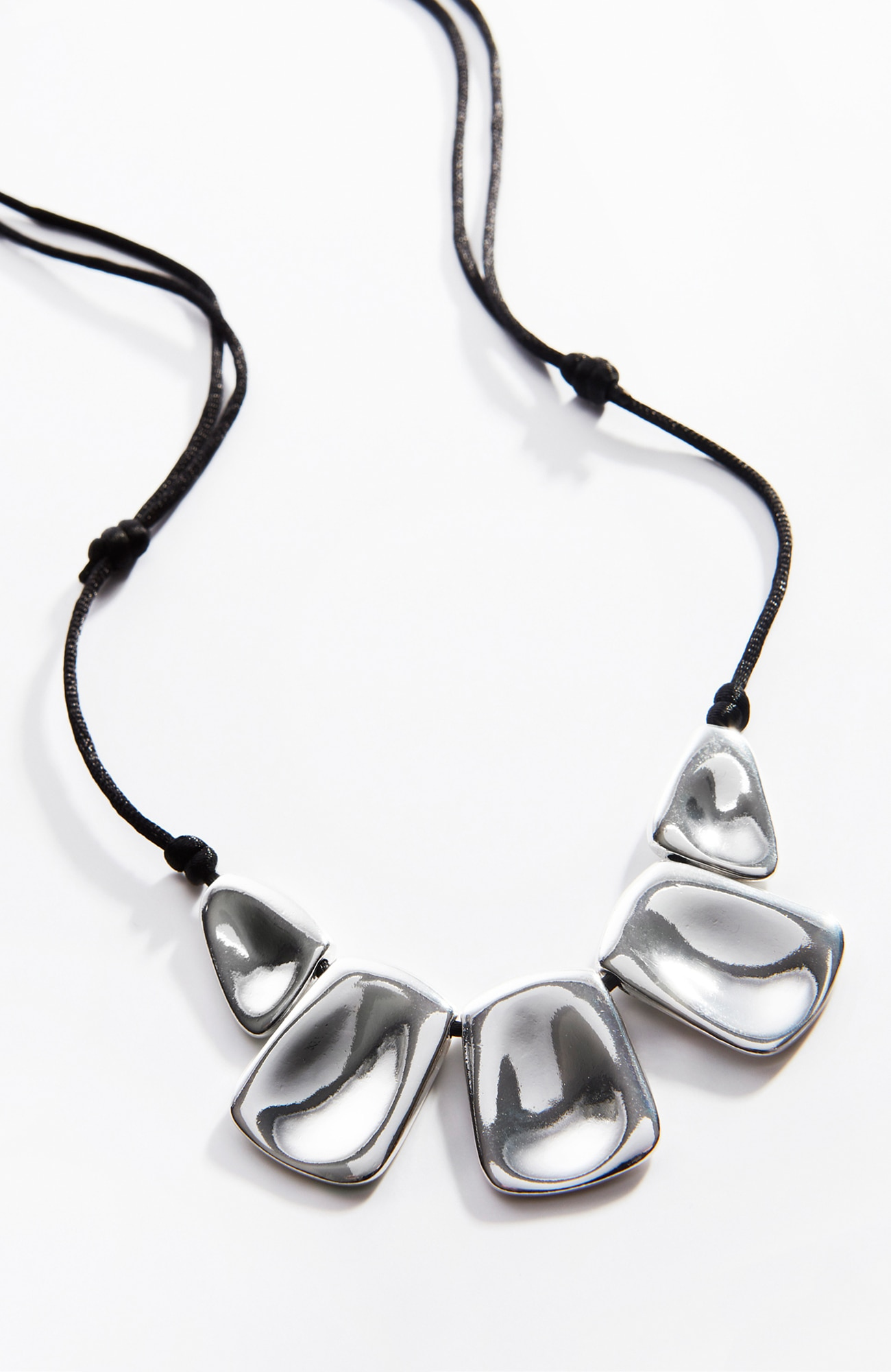sculpted metal necklace