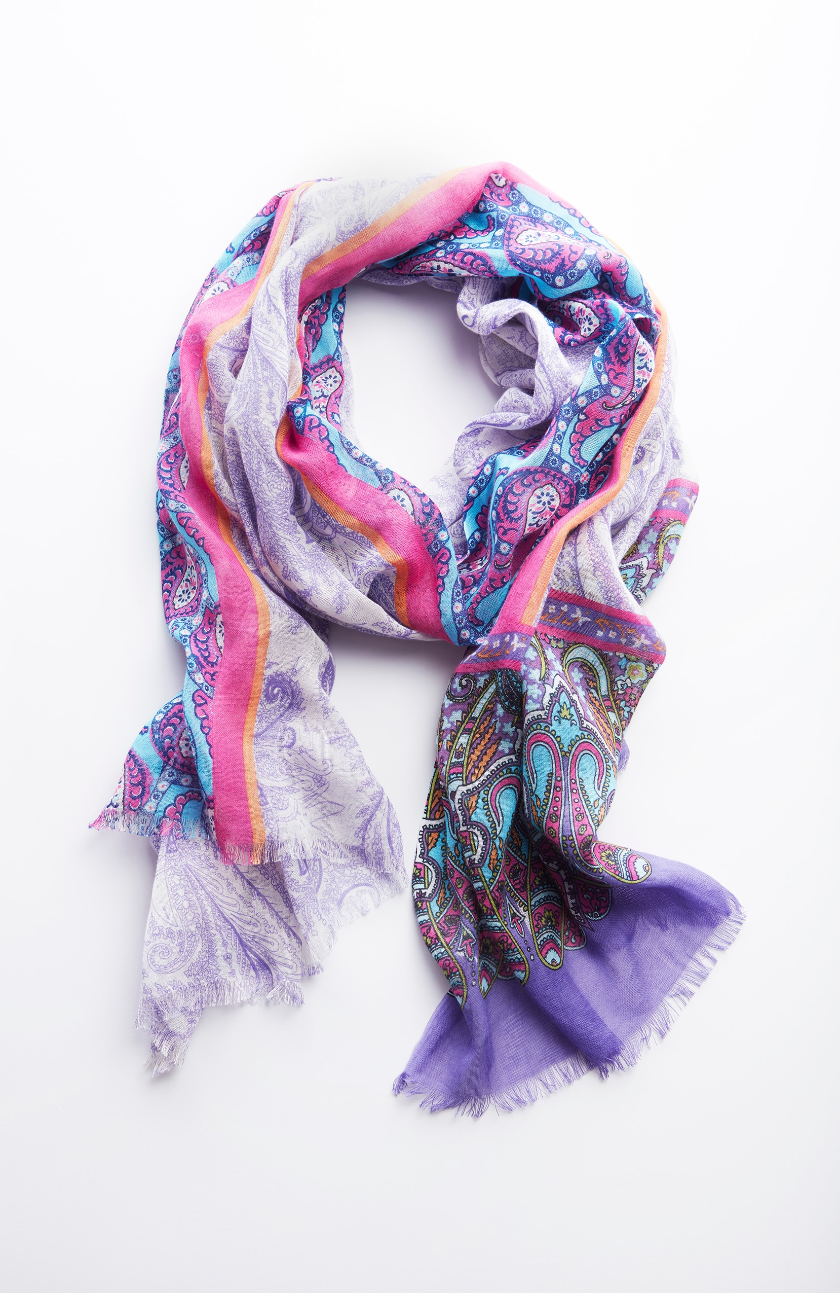 mixed-paisley scarf