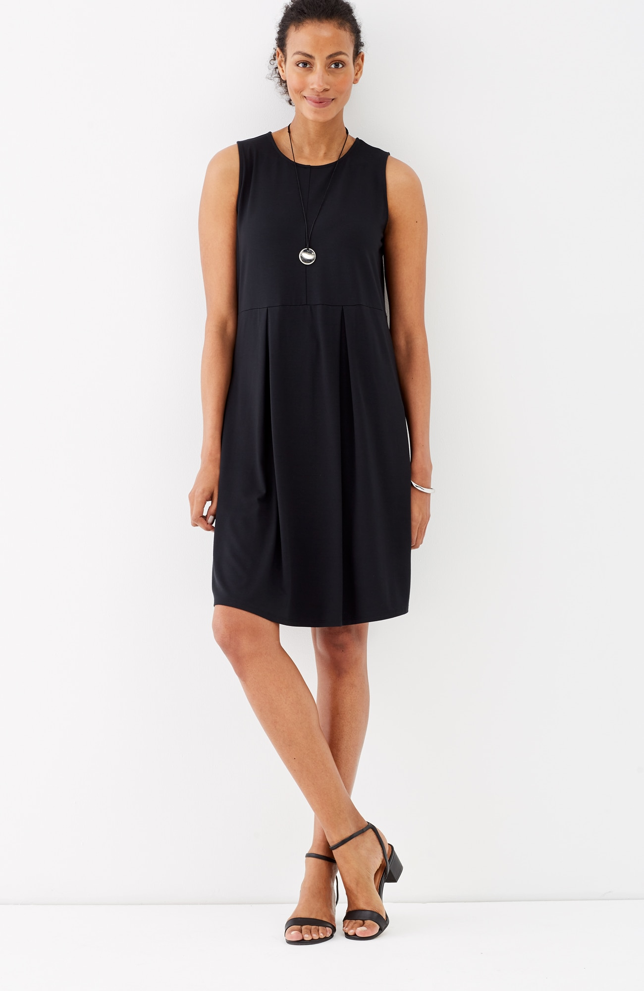 Wearever pleated sleeveless dress
