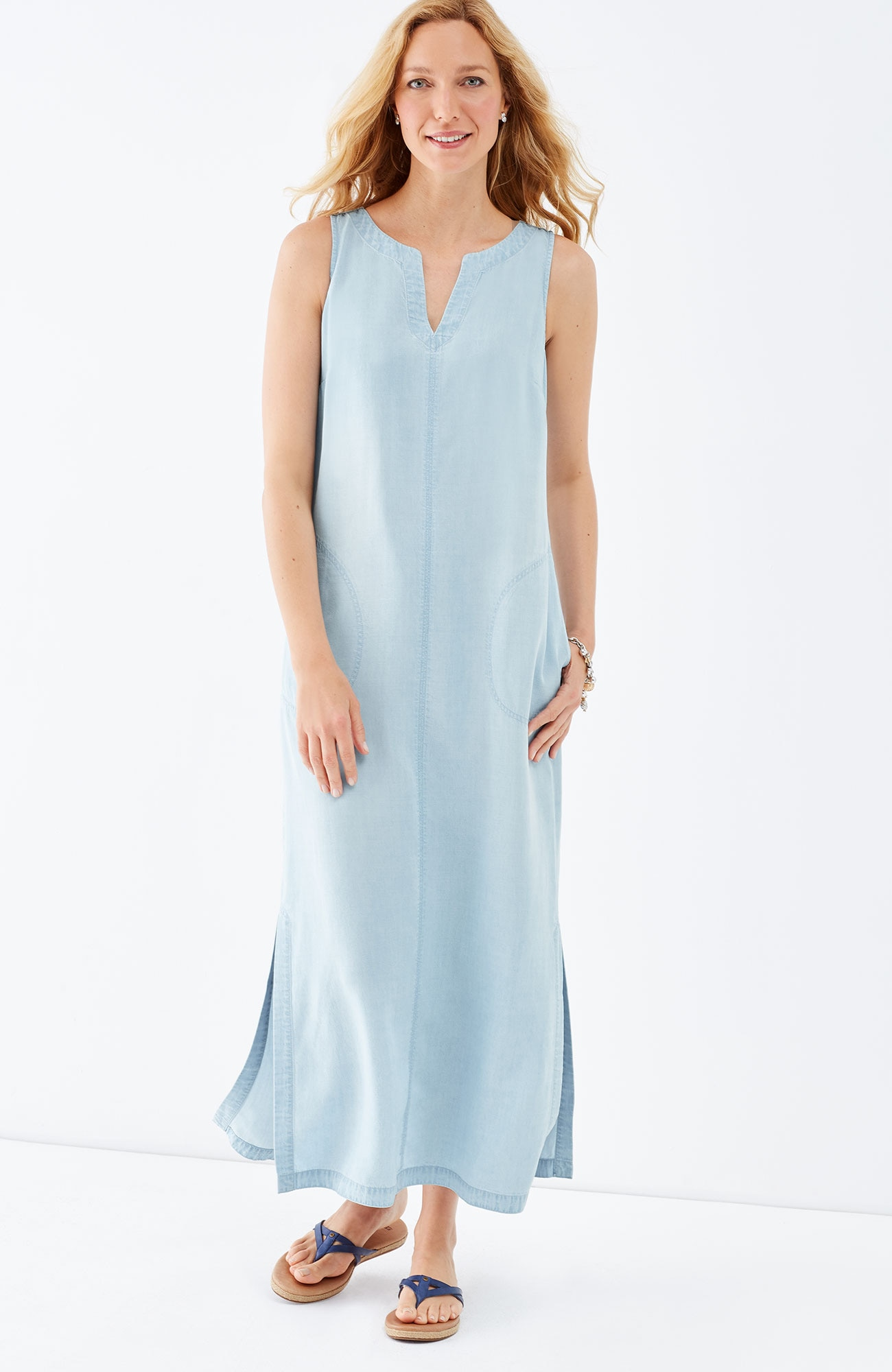 Tencel®-Soft indigo maxi dress