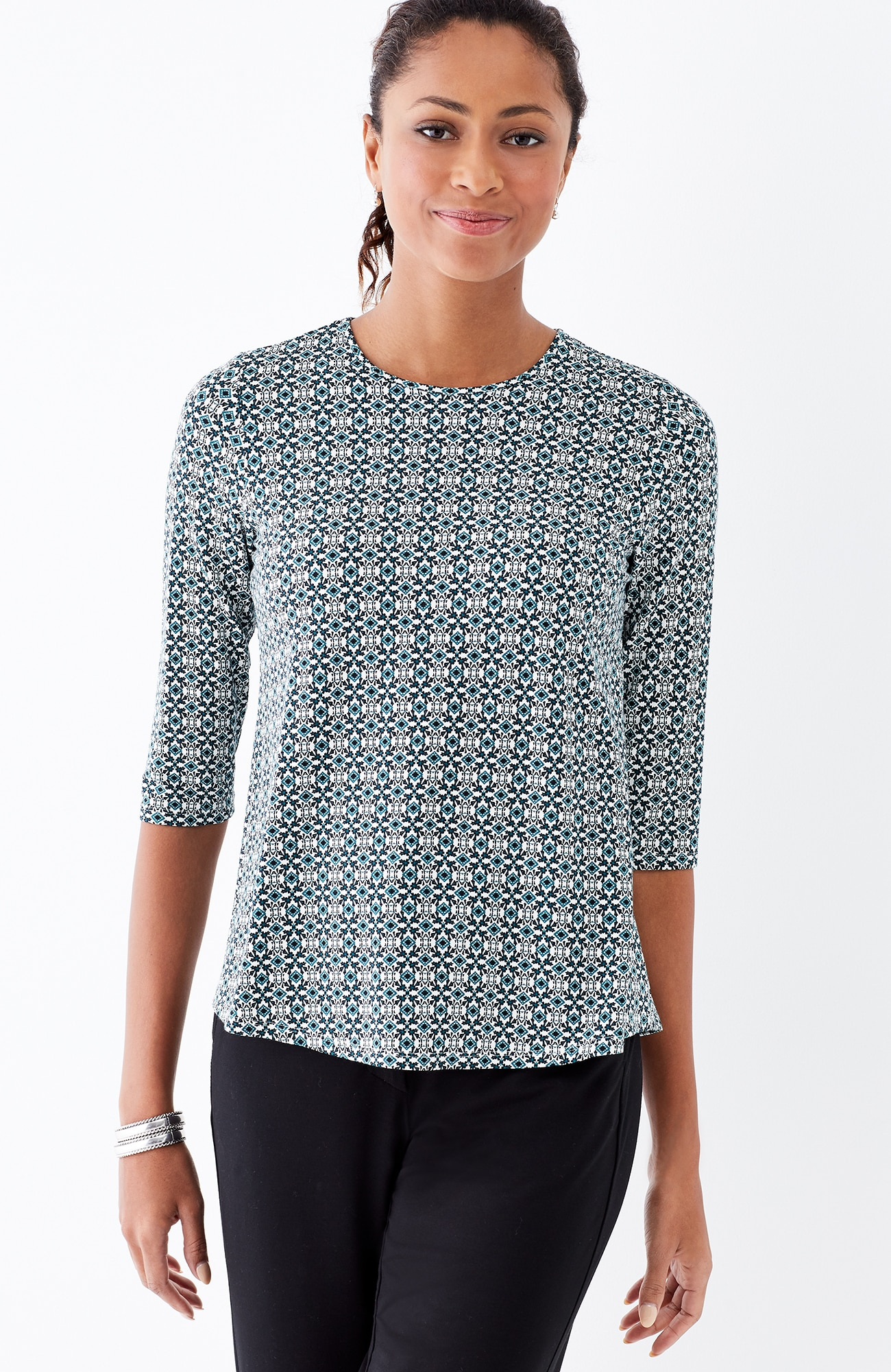 Wearever crew-neck ballet-sleeve top
