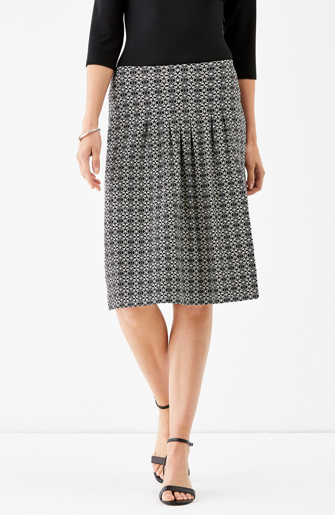 Wearever pleated A-line skirt