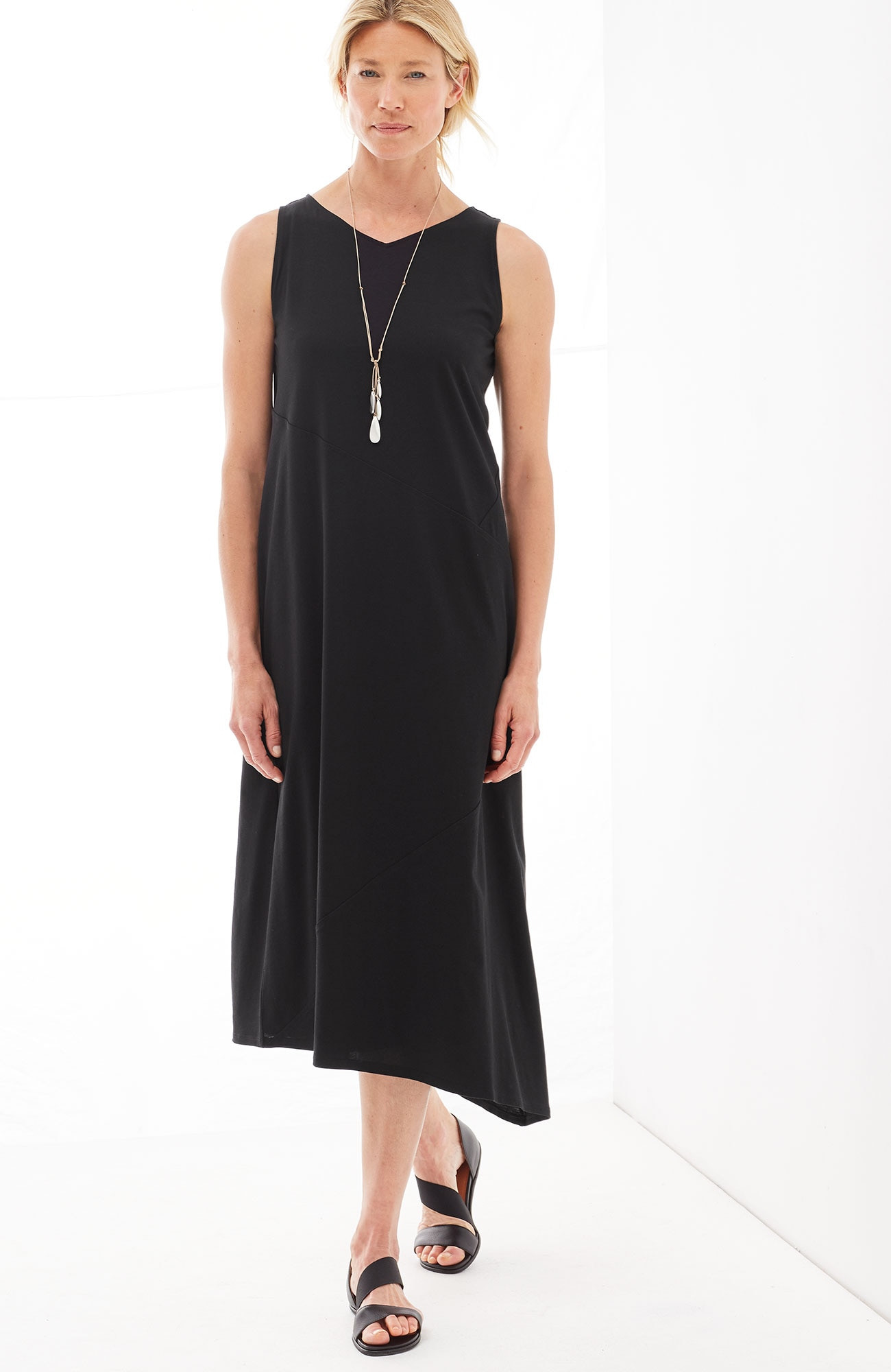 Pure Jill V-neck asymmetric dress