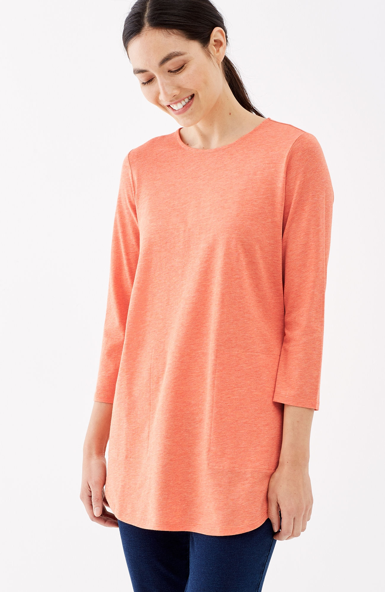 Pure Jill crew-neck shirttail tunic