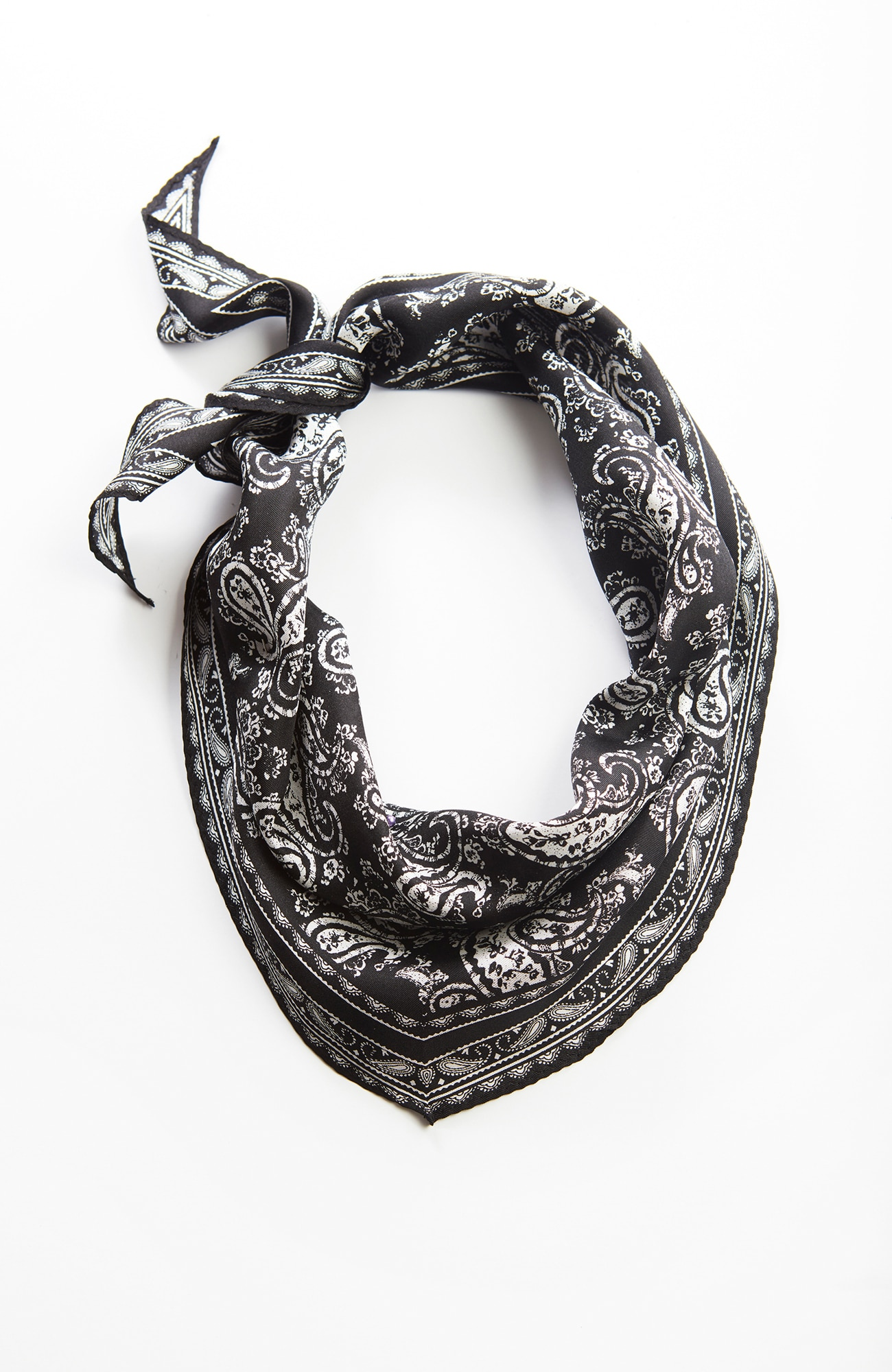 midnight paisley silk neckerchief