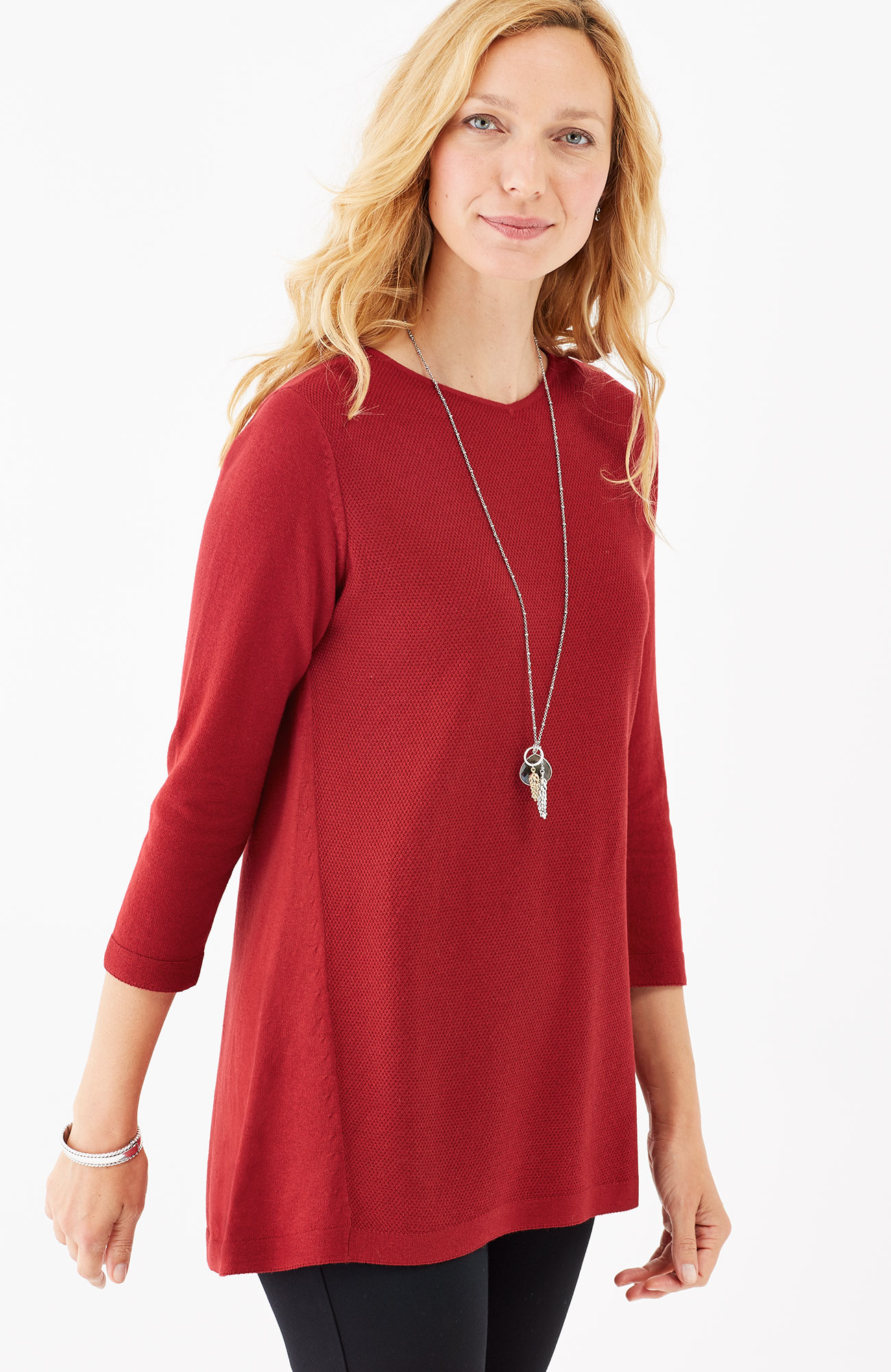 light A-line sweater tunic