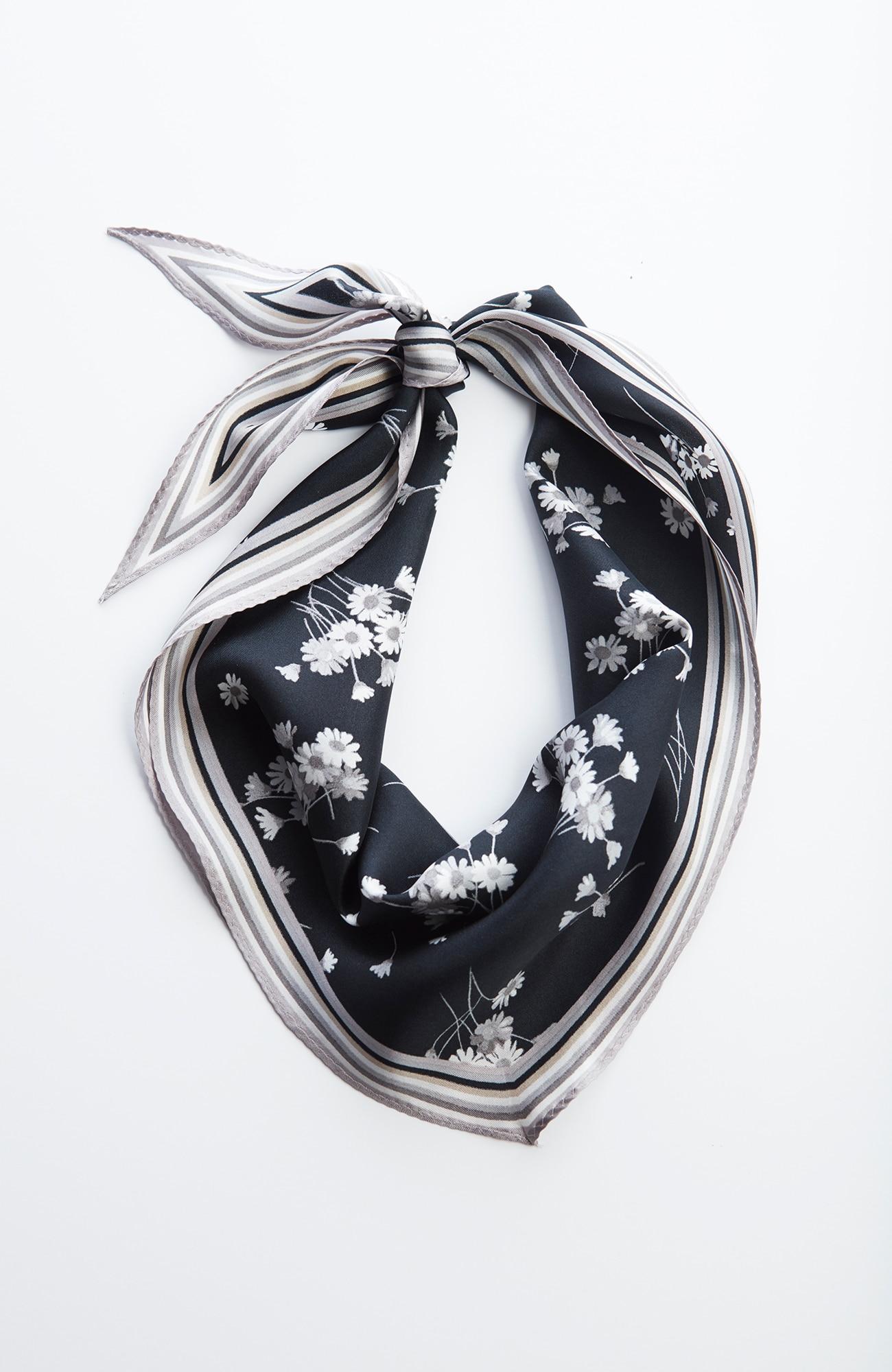 daisy-print silk neckerchief