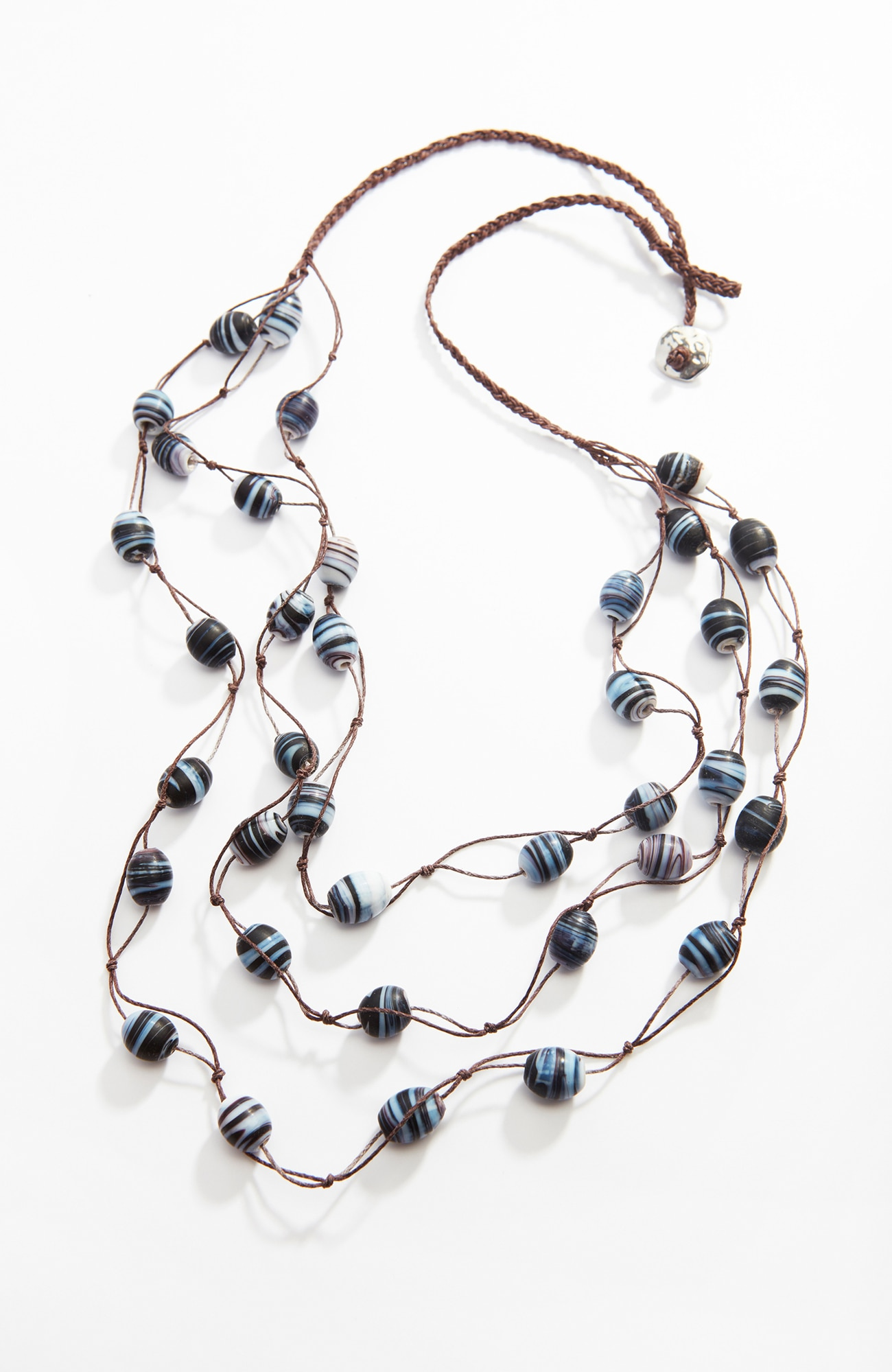 Pure Jill matte beaded necklace