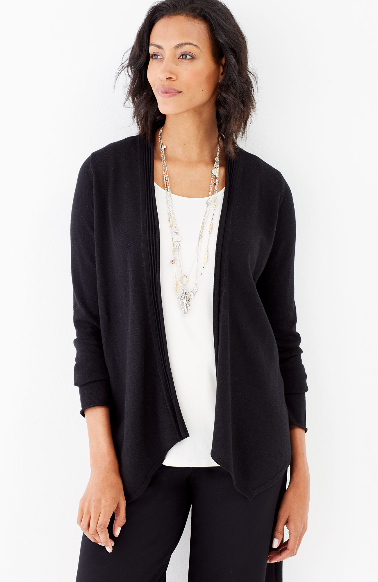 easy draped-front cardi