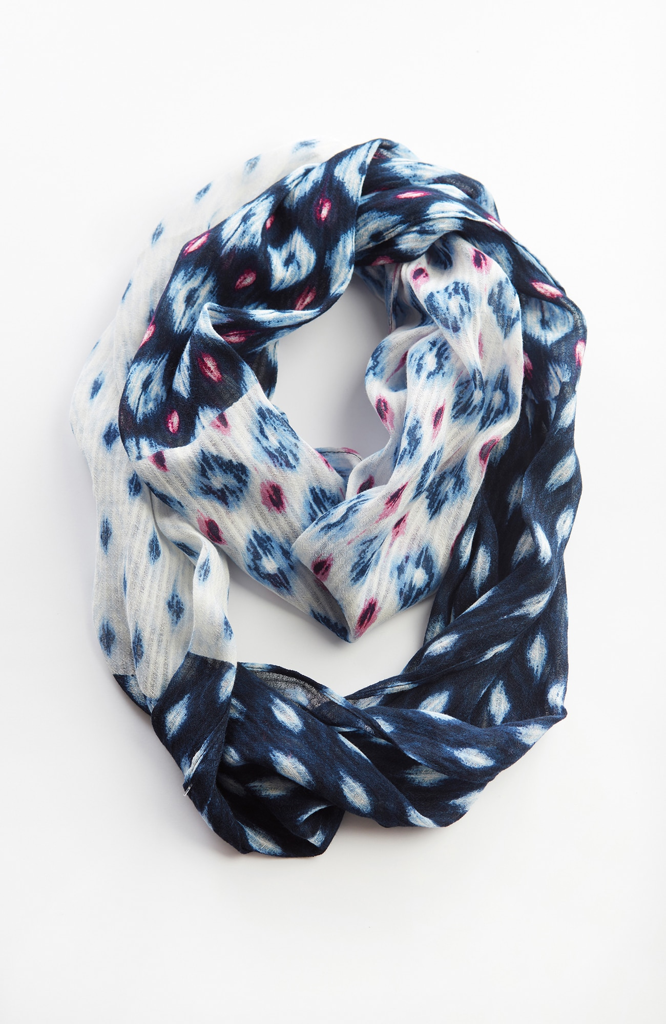 Pure Jill ikat-diamonds infinity scarf