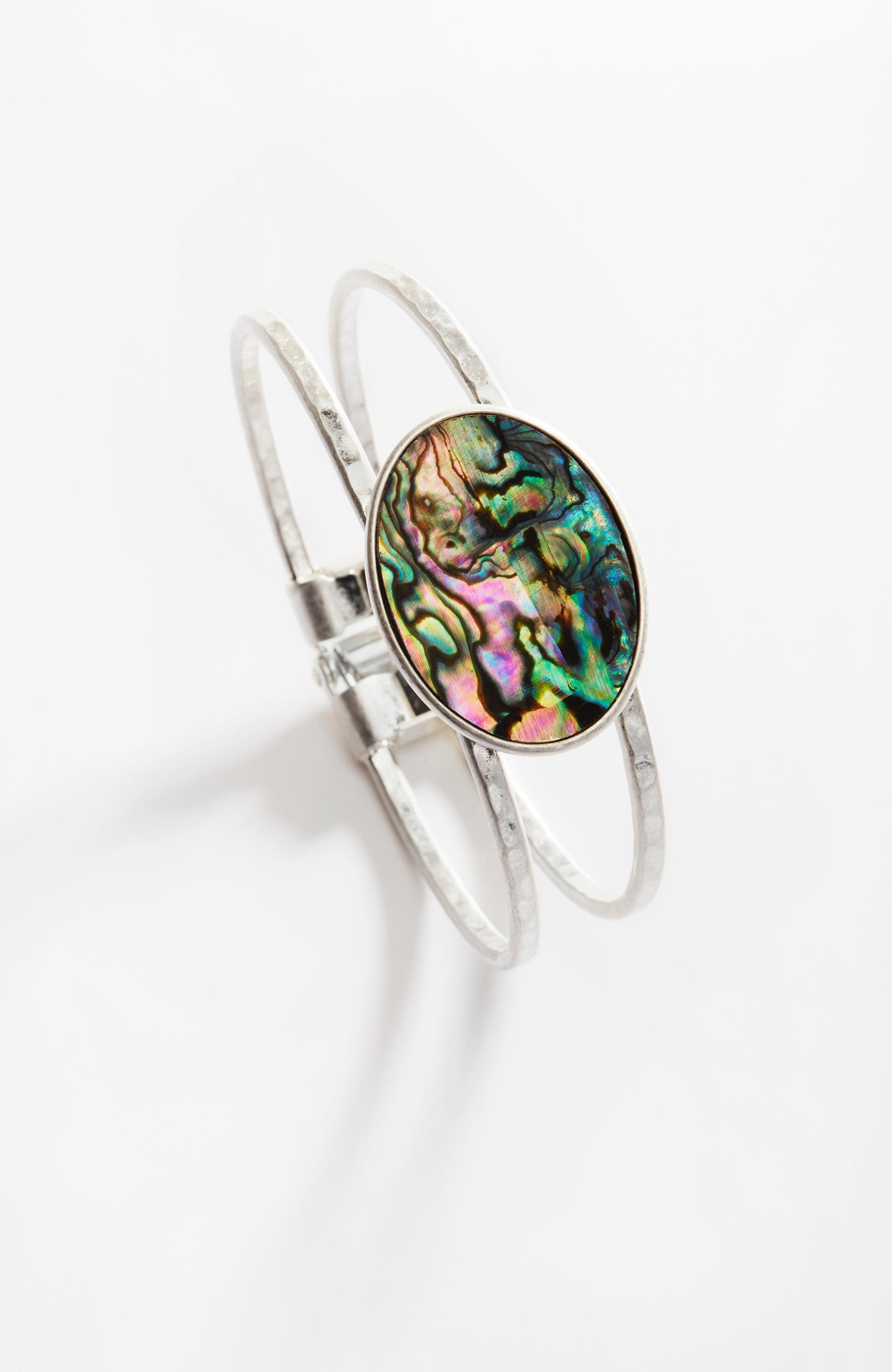 abalone hinged bracelet