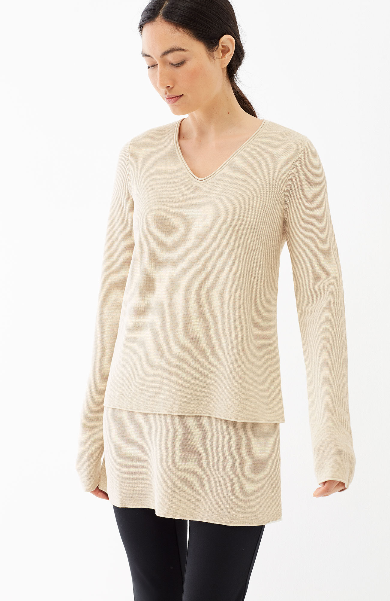 Pure Jill layered pullover