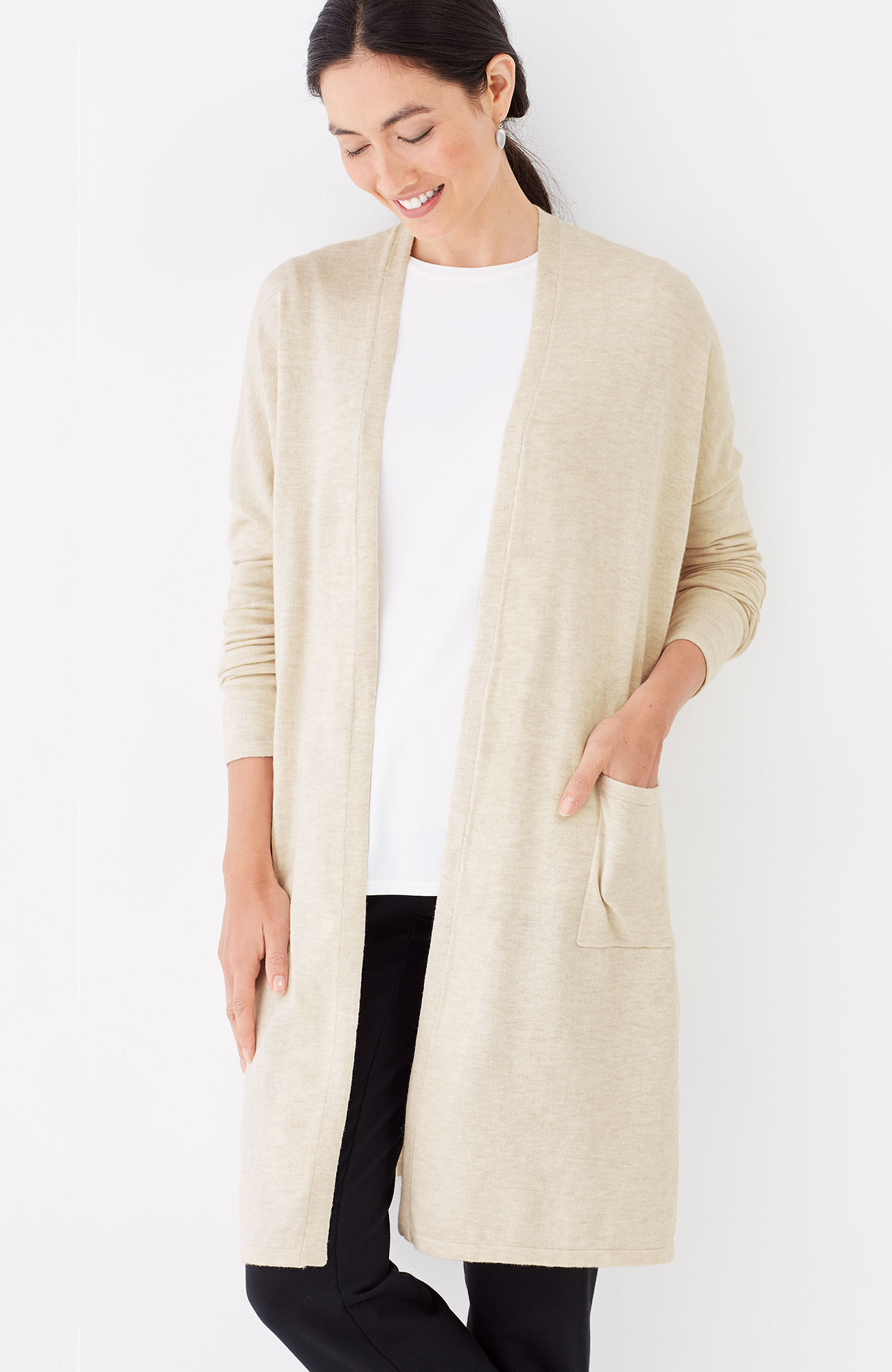 Pure Jill long & easy cardi