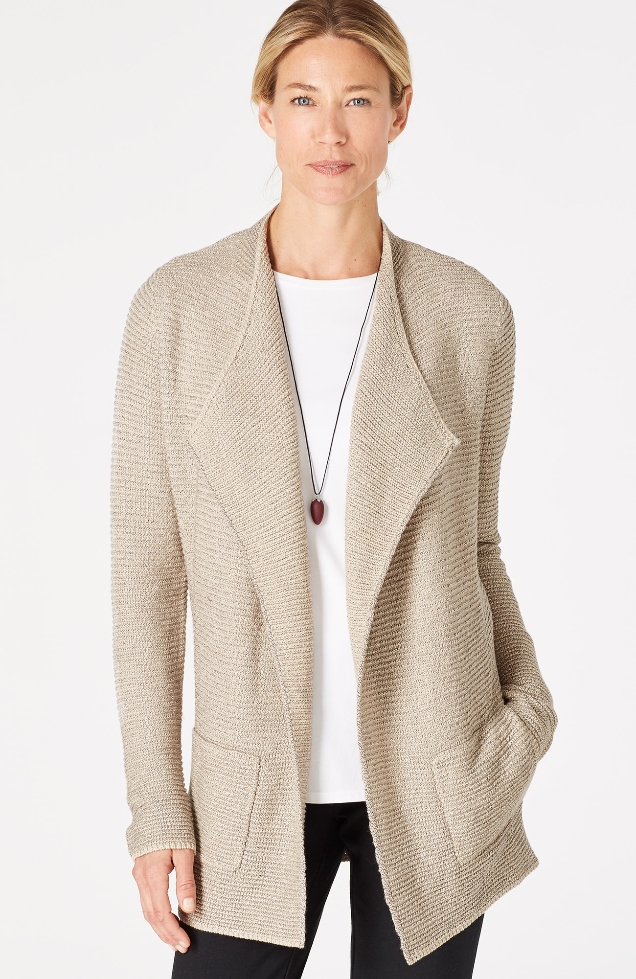 Pure Jill textured draped cardi