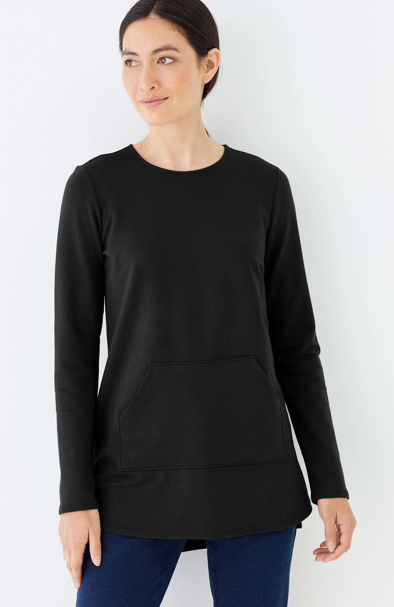 Pure Jill relaxed high-low tunic