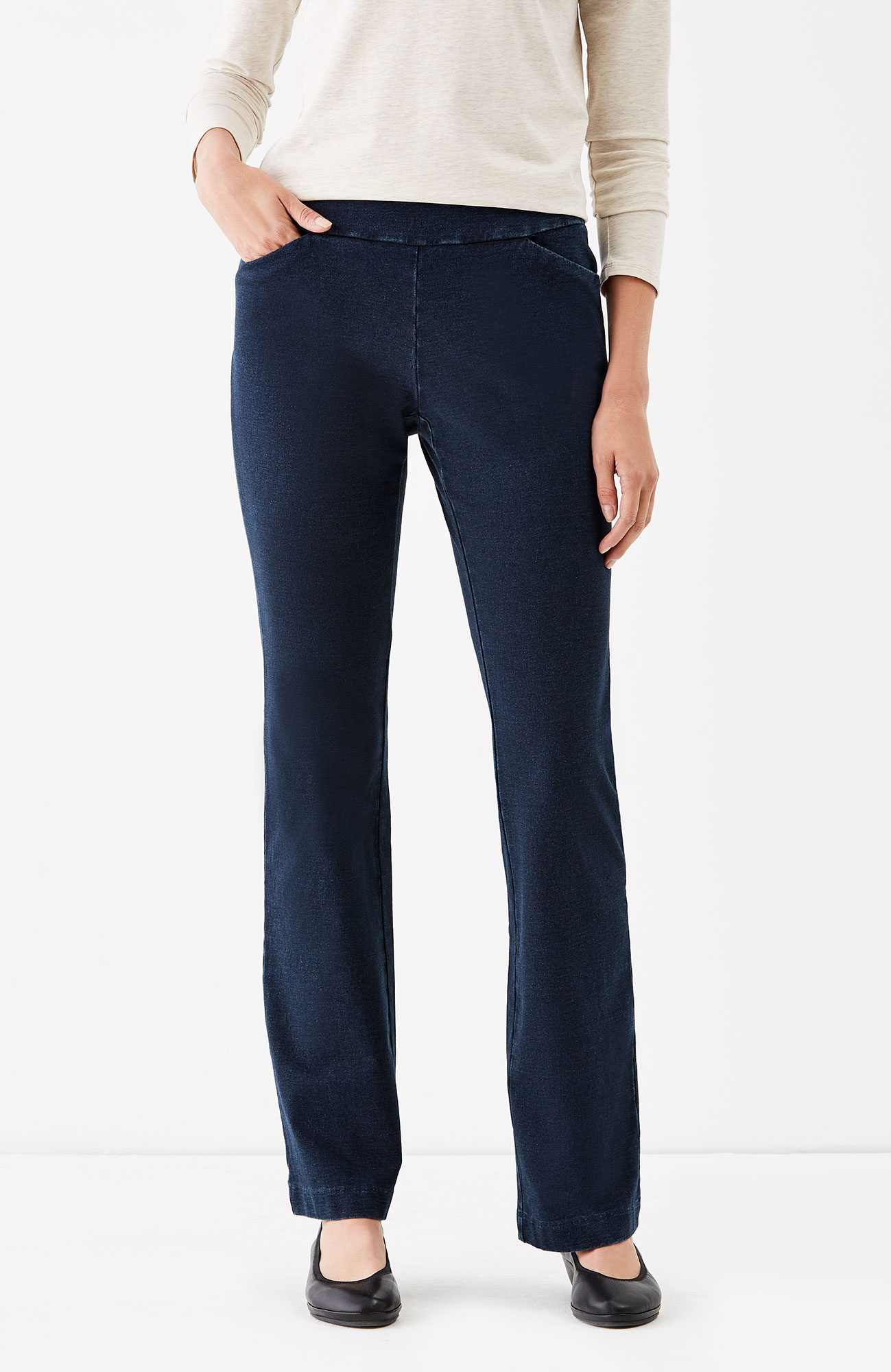 Pure Jill indigo knit everyday pants