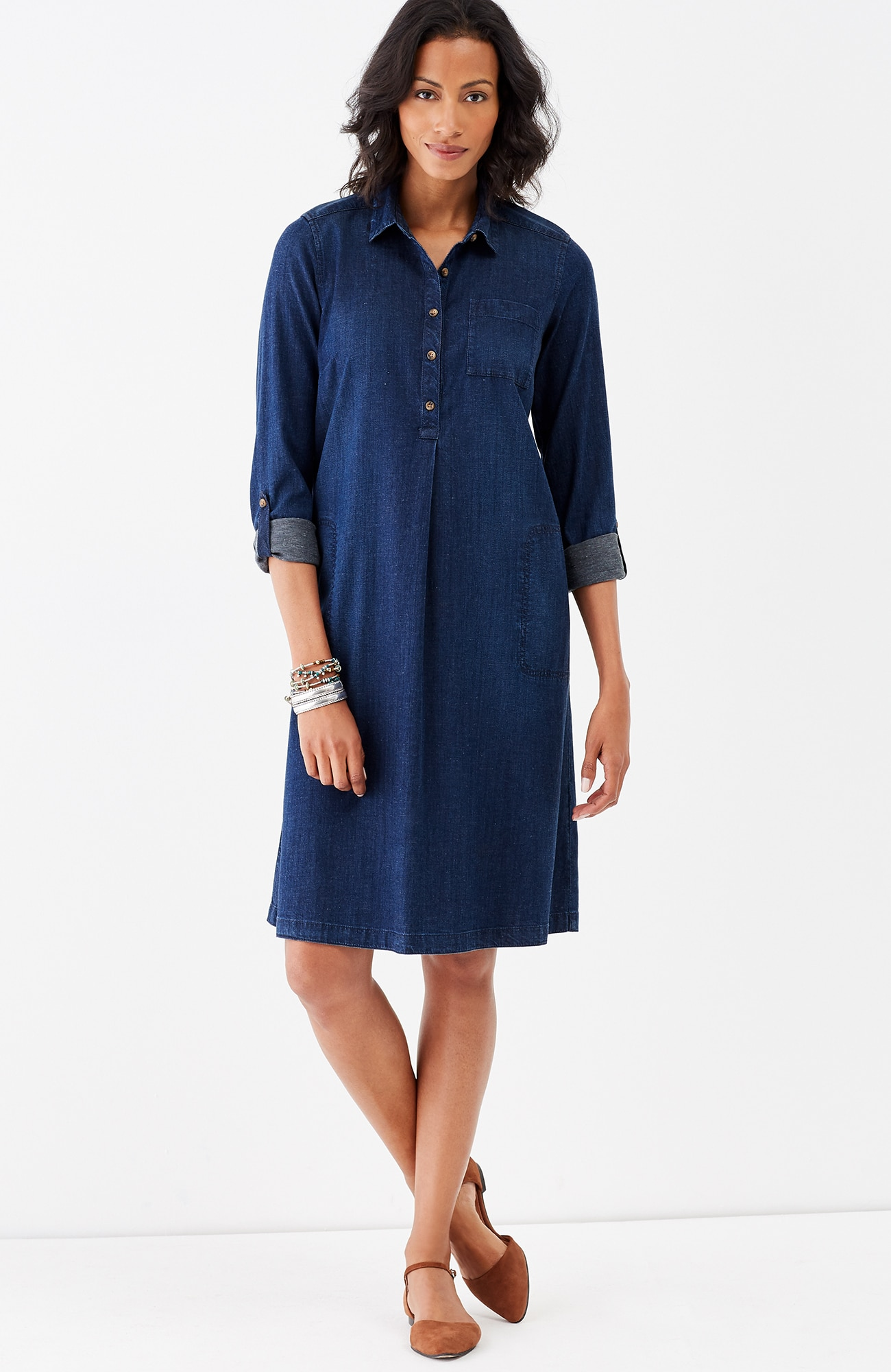 Tencel®-denim shirtdress