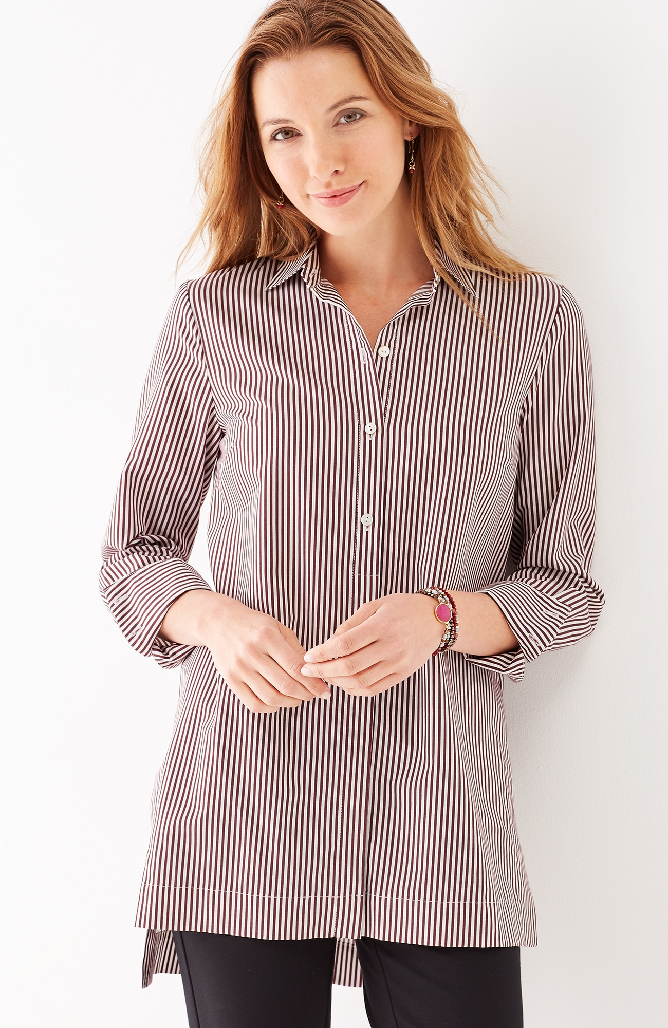 linear stripes A-line tunic