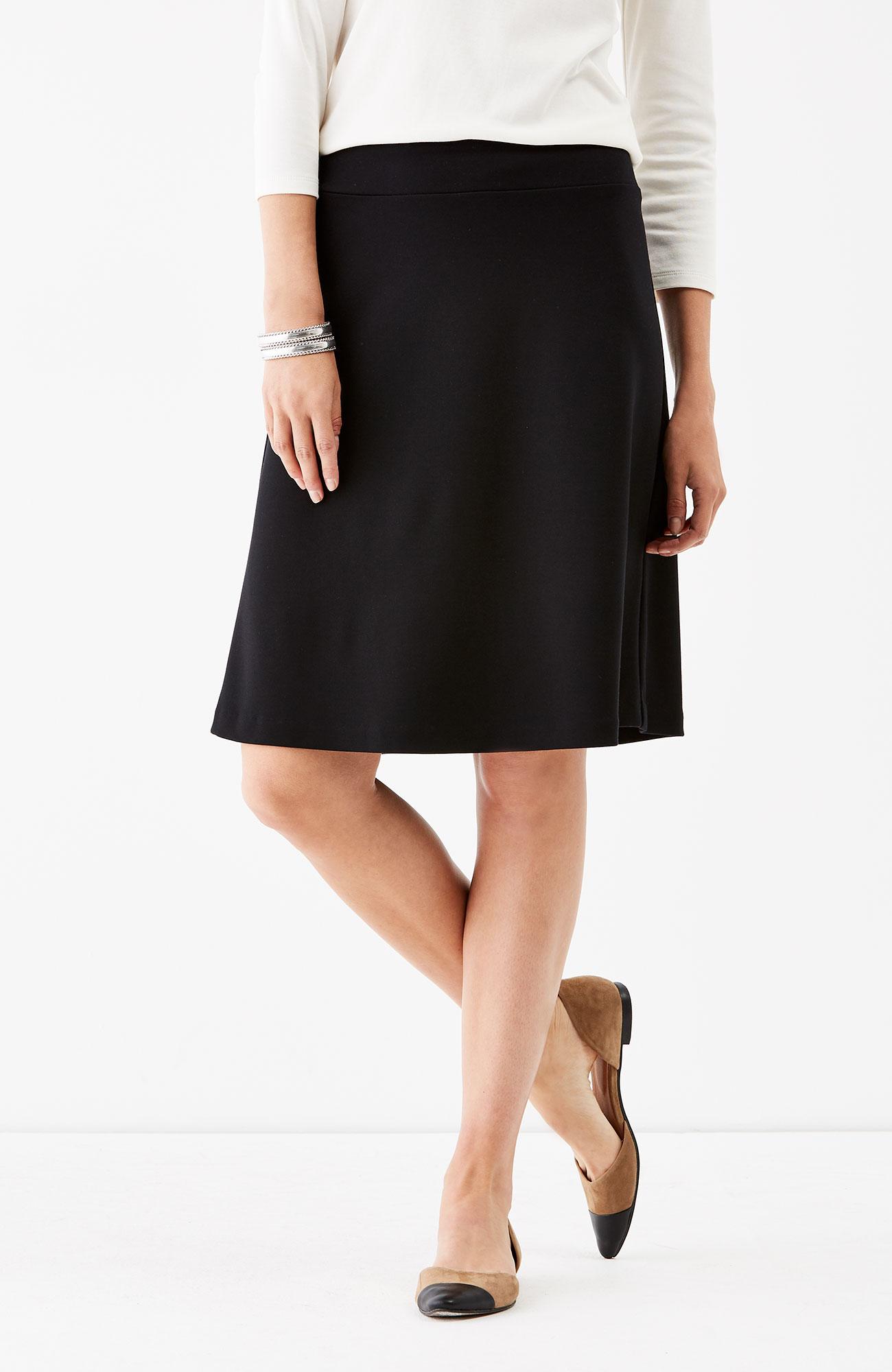 ponte knit A-line skirt