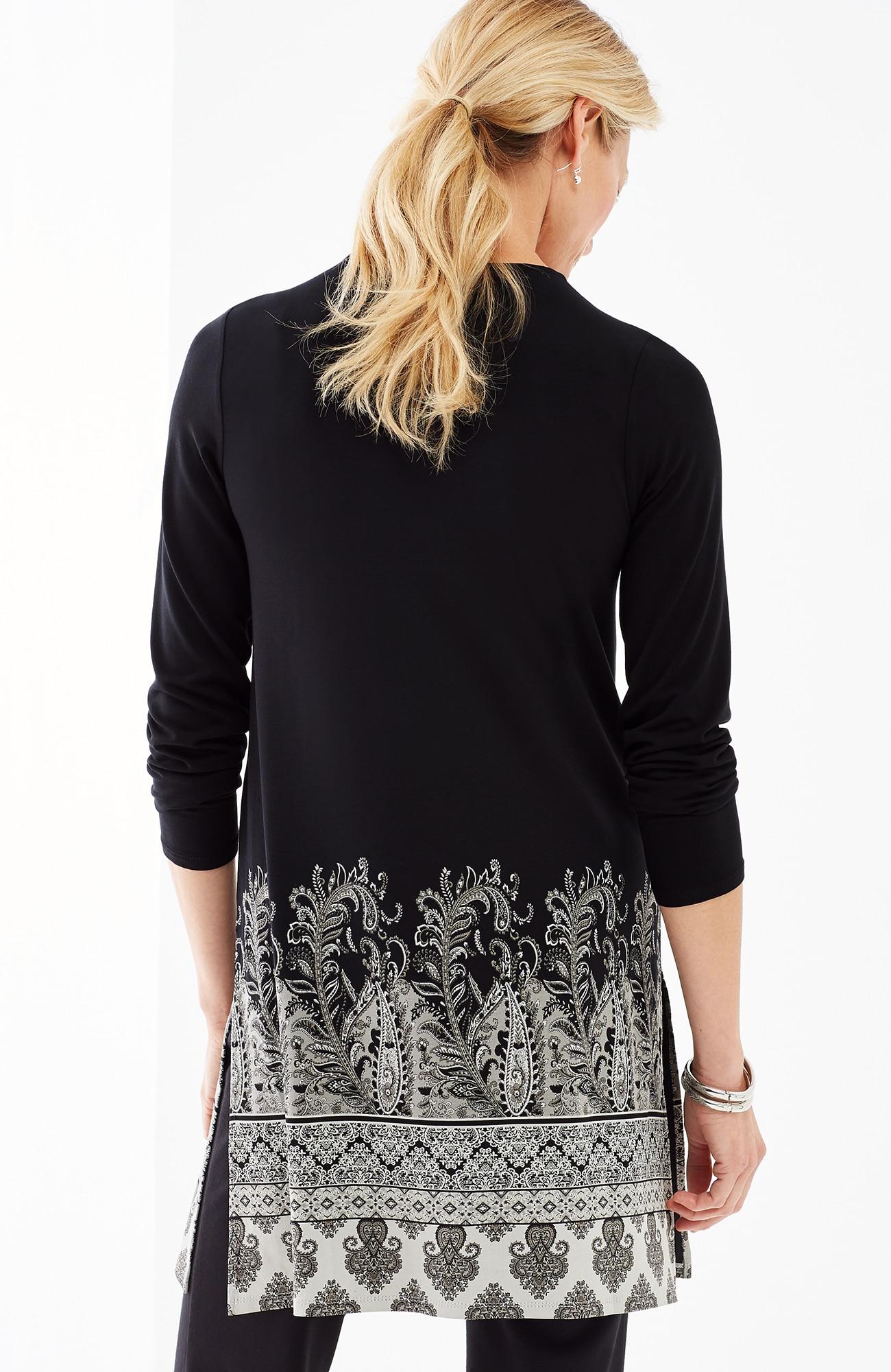 Wearever paisley-border tunic