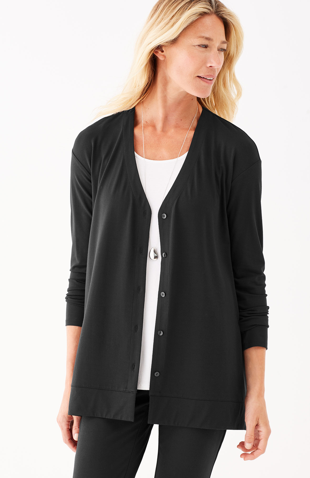Wearever button-front A-line jacket