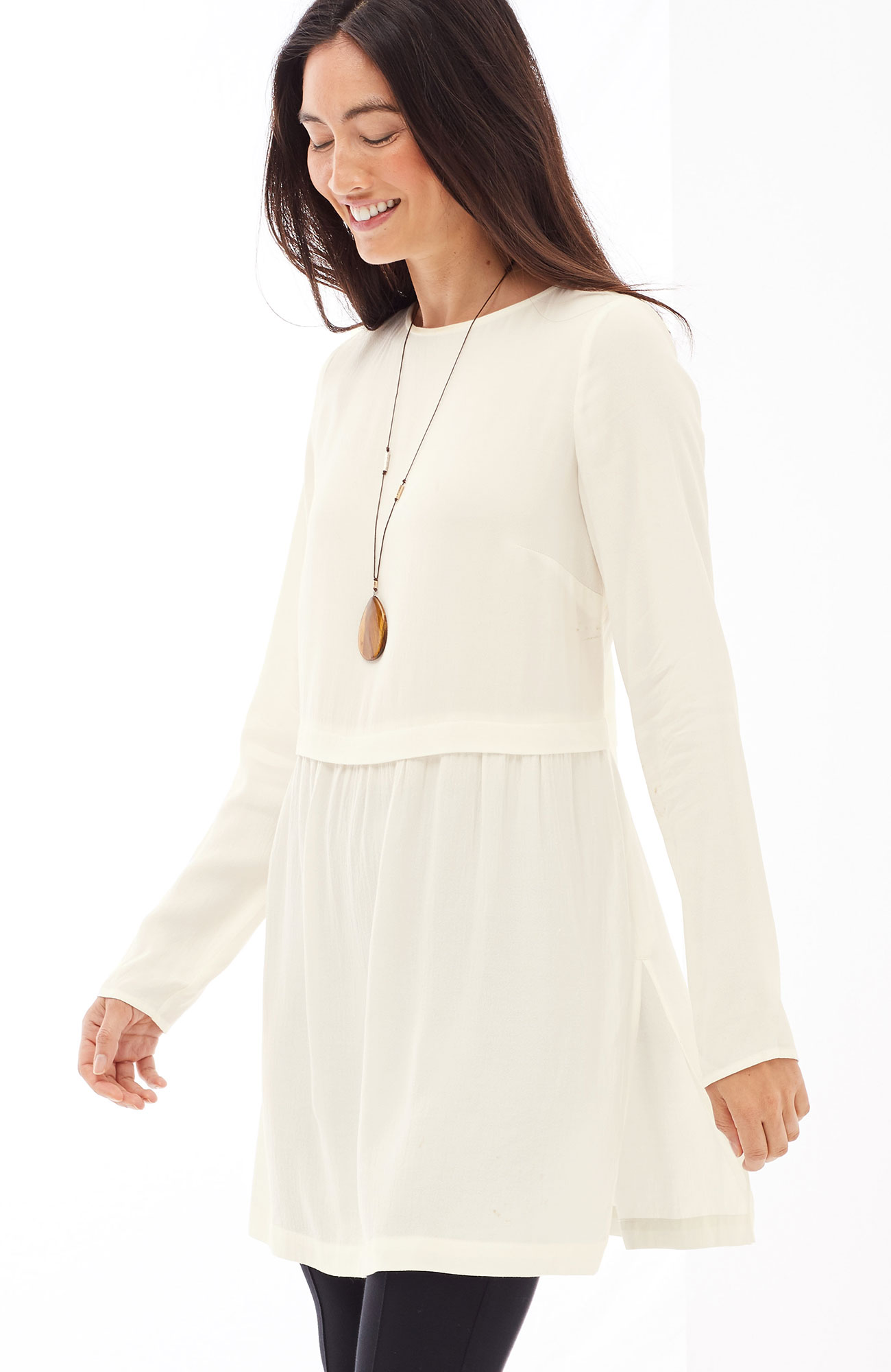 soft boat-neck tunic
