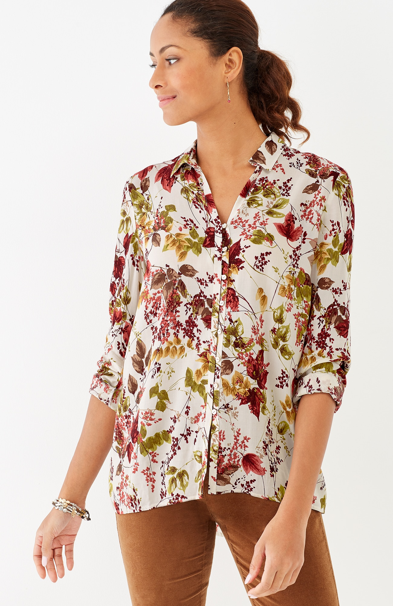 soft & light printed elliptical shirt