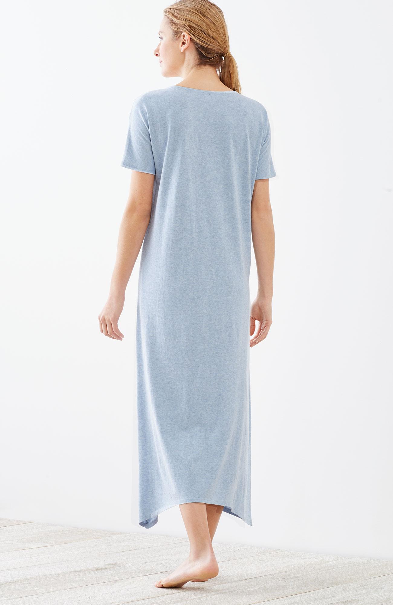 Pure Jill Sleep ultrasoft dipped-hem gown