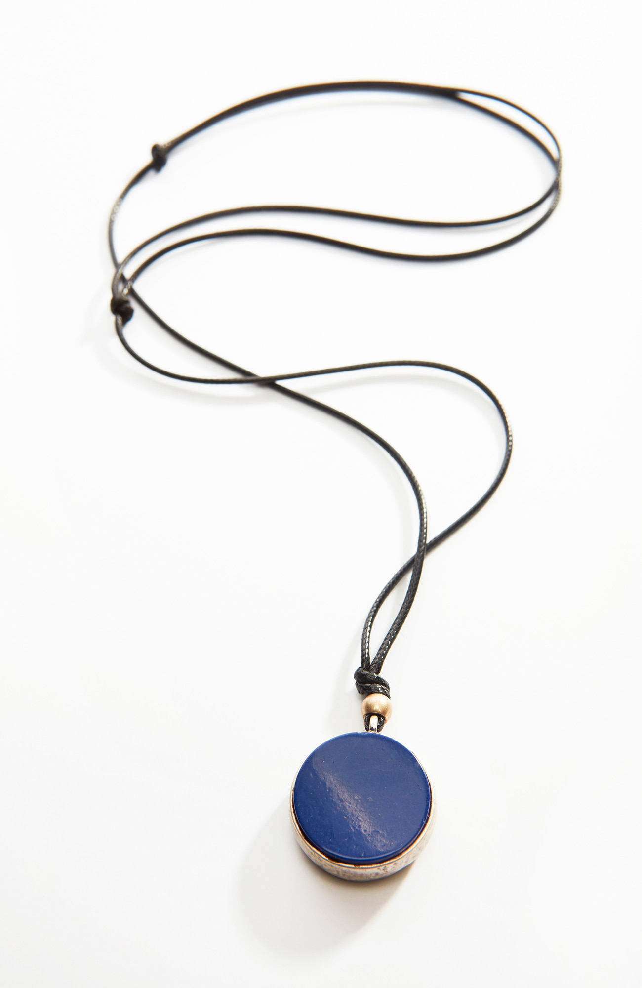 lapis & tiger's-eye pendant necklace