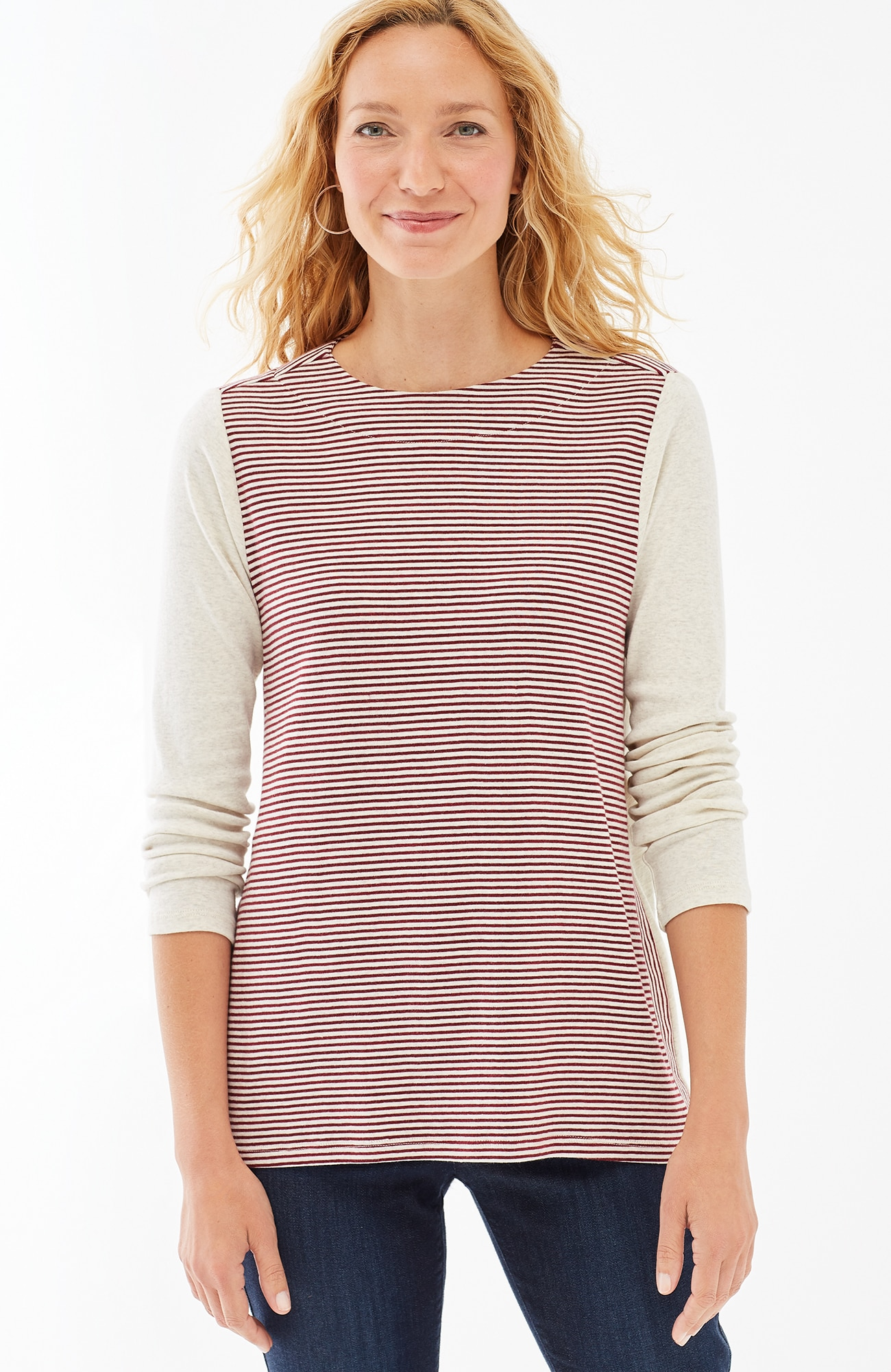 perfect pima striped A-line top