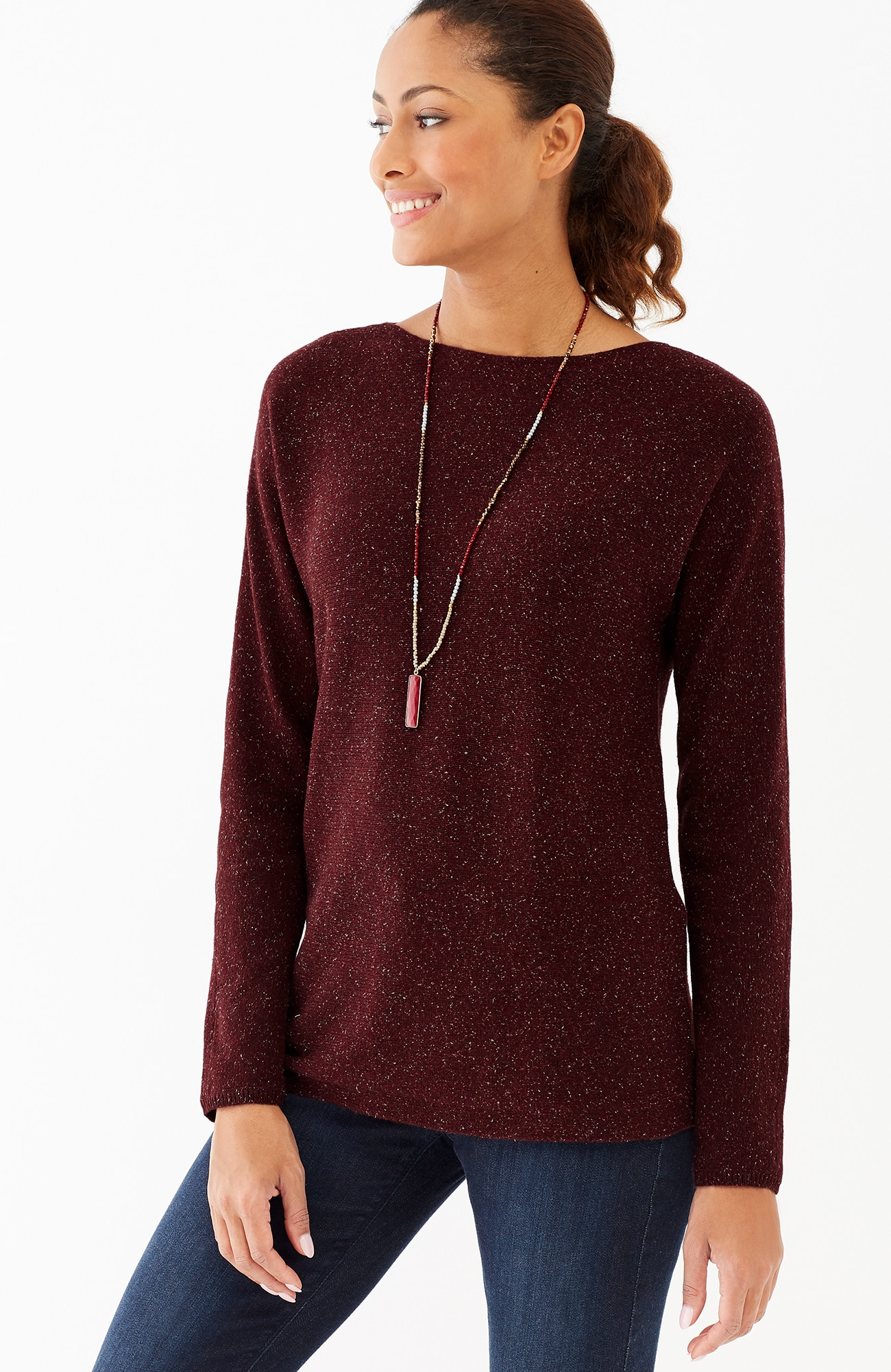 Callie boat-neck sweater