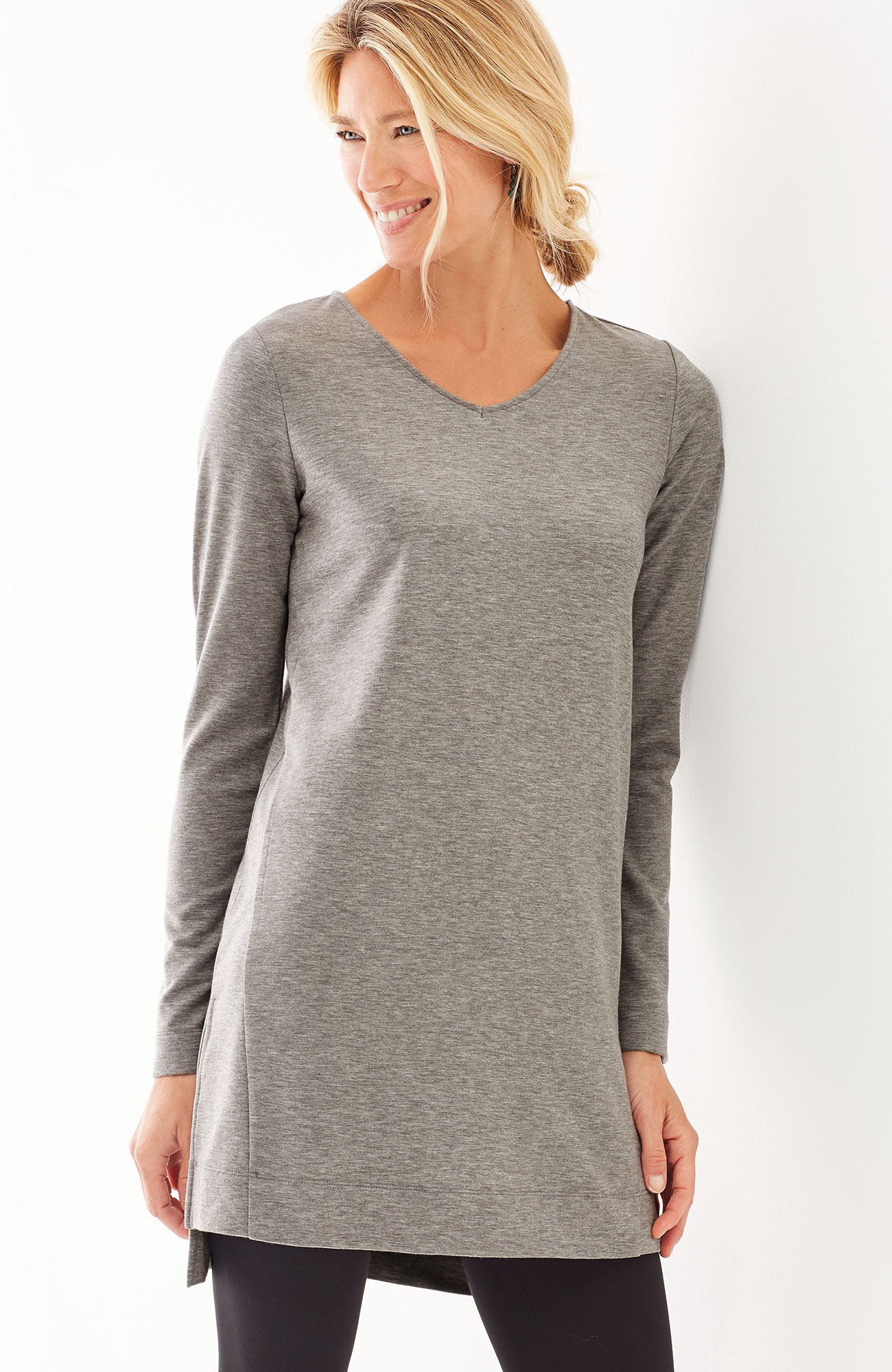 Pure Jill Luxe Tencel® V-neck tunic