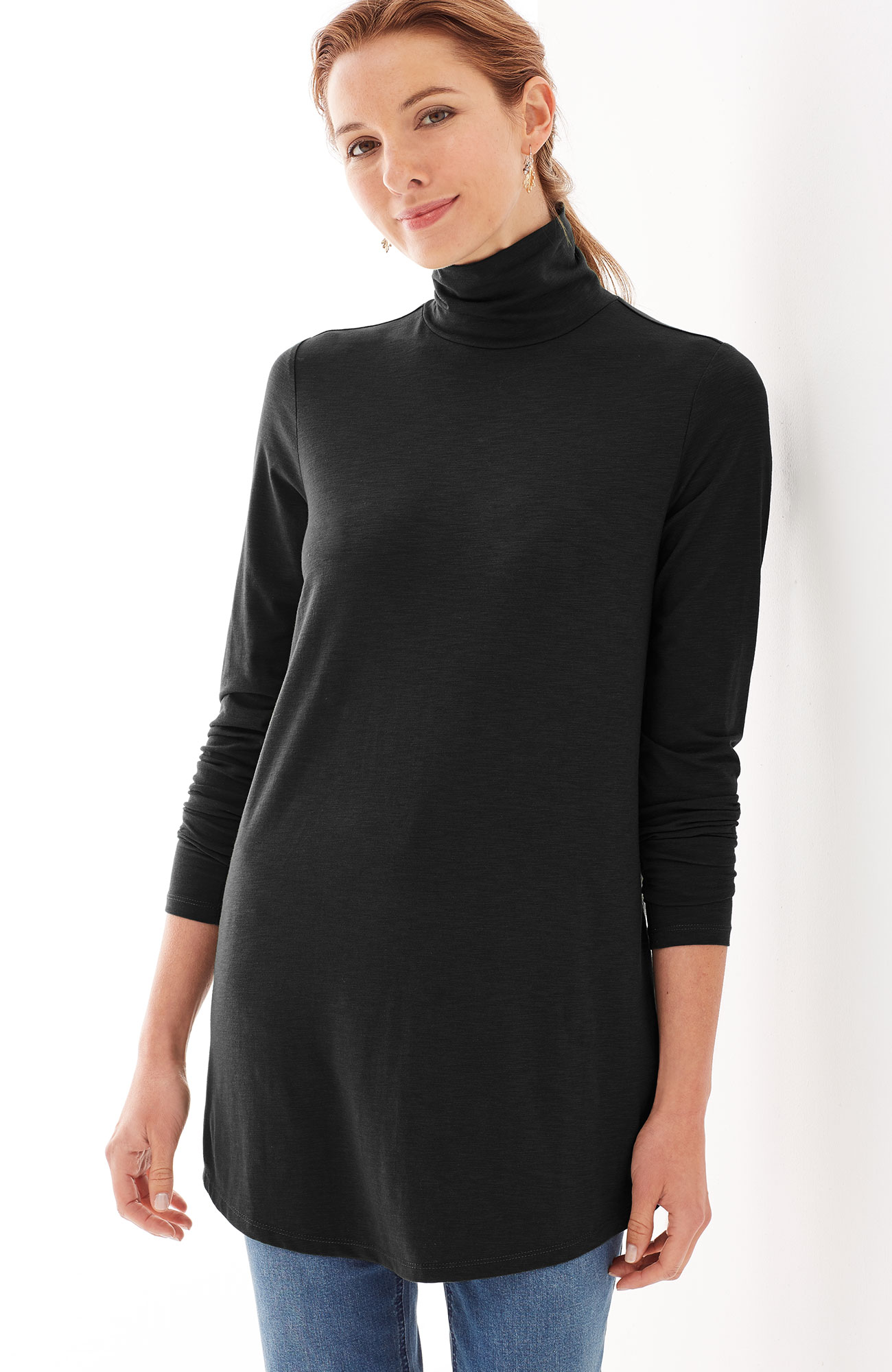 ultrasoft turtleneck tunic