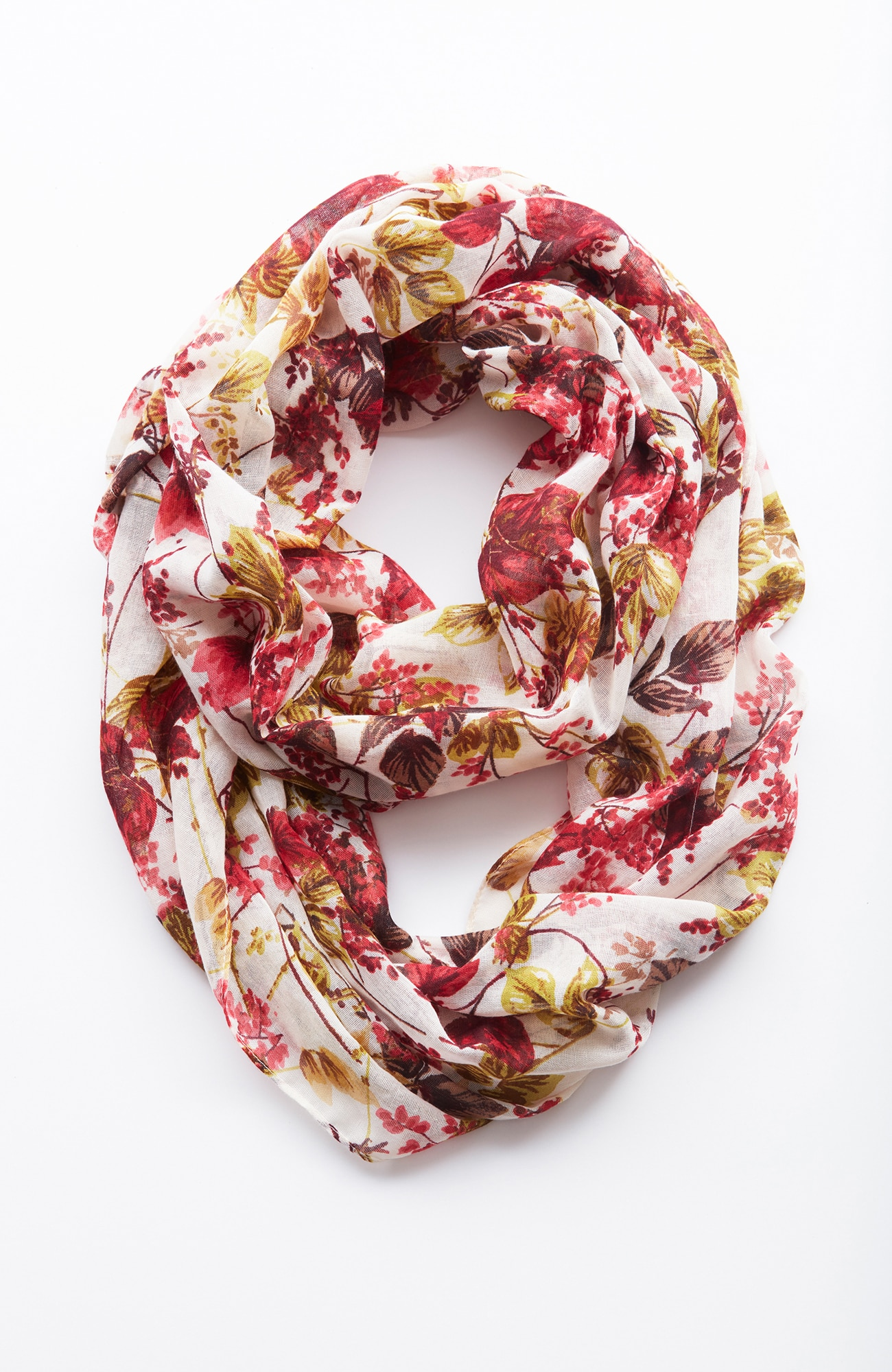 whimsical leaves infinity scarf